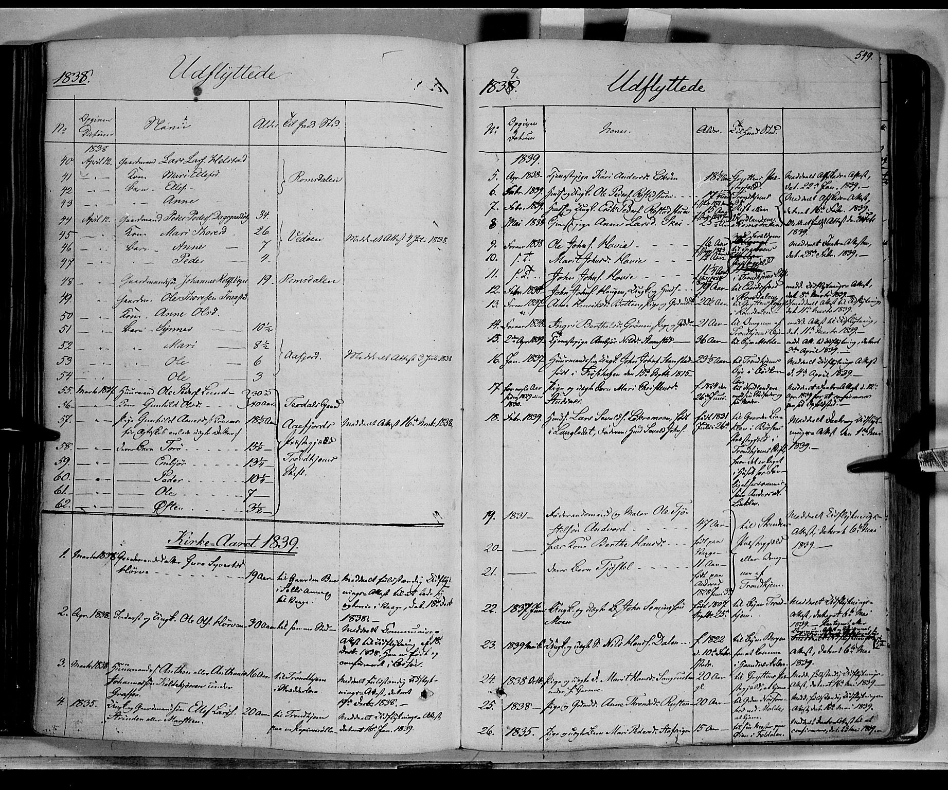 SAH, Lom prestekontor, K/L0006: Parish register (official) no. 6B, 1837-1863, p. 549