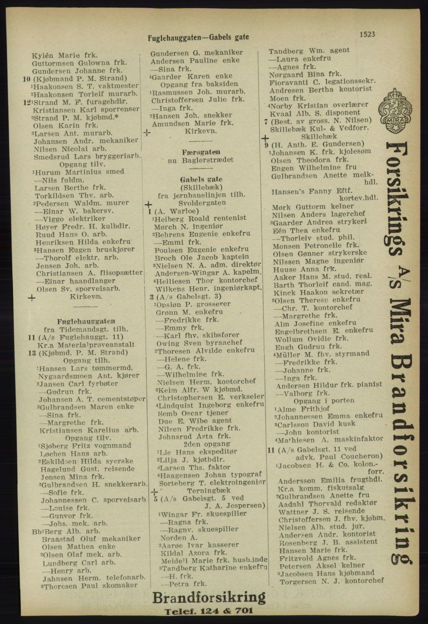 PUBL, Kristiania/Oslo adressebok, 1918, p. 1676