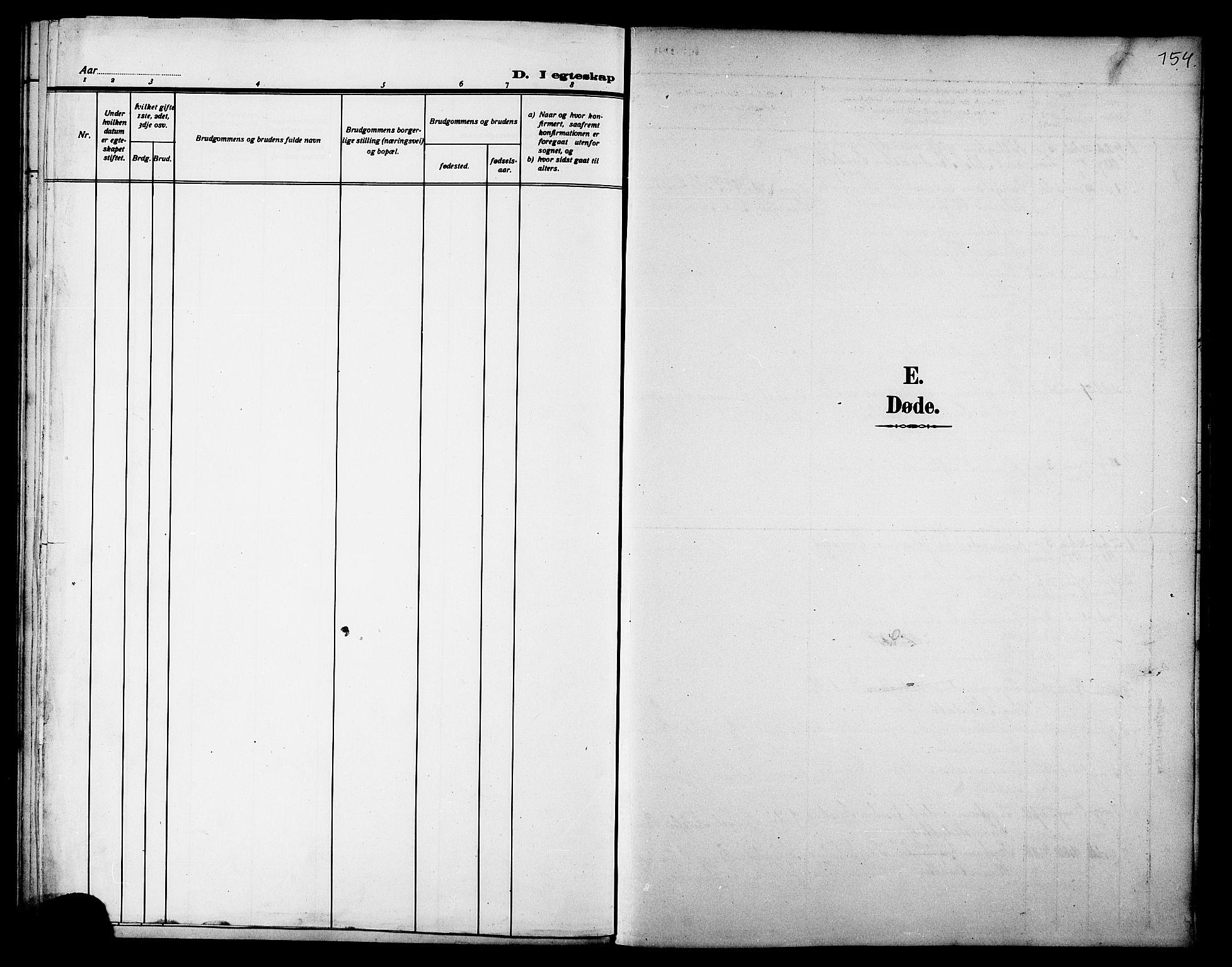 SAT, Ministerialprotokoller, klokkerbøker og fødselsregistre - Nord-Trøndelag, 733/L0327: Parish register (copy) no. 733C02, 1888-1918, p. 154