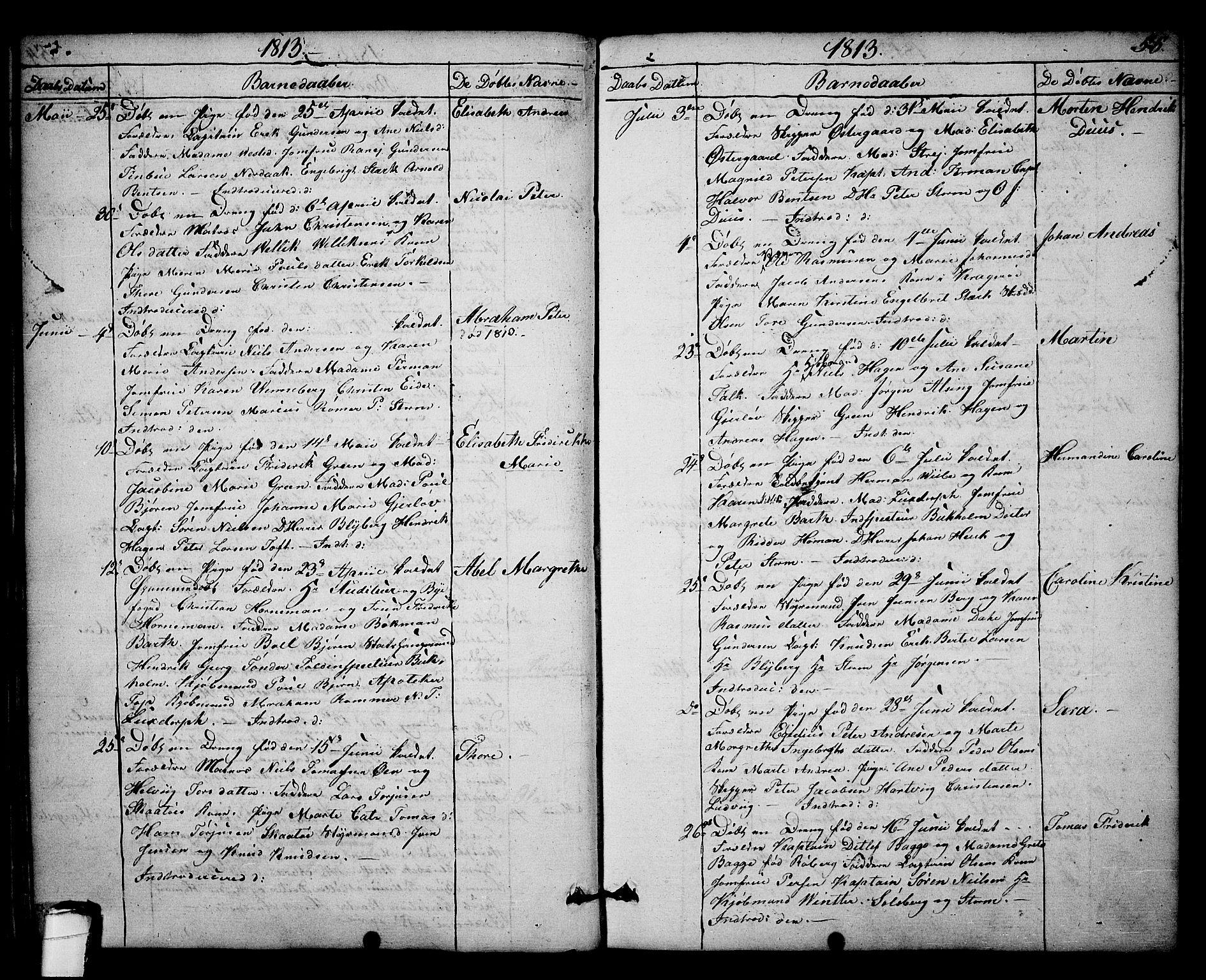 SAKO, Kragerø kirkebøker, F/Fa/L0003: Parish register (official) no. 3, 1802-1813, p. 55