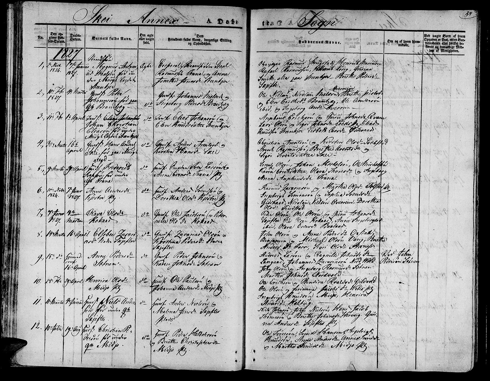SAT, Ministerialprotokoller, klokkerbøker og fødselsregistre - Nord-Trøndelag, 735/L0336: Parish register (official) no. 735A05 /2, 1825-1835, p. 54