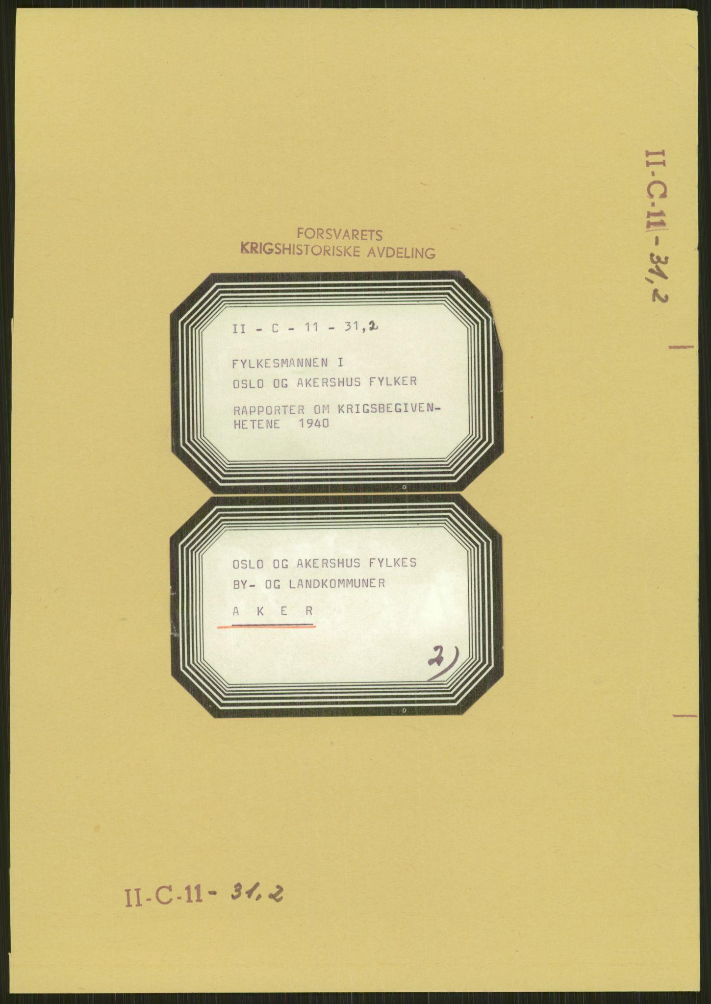 RA, Forsvaret, Forsvarets krigshistoriske avdeling, Y/Ya/L0013: II-C-11-31 - Fylkesmenn.  Rapporter om krigsbegivenhetene 1940., 1940, p. 217