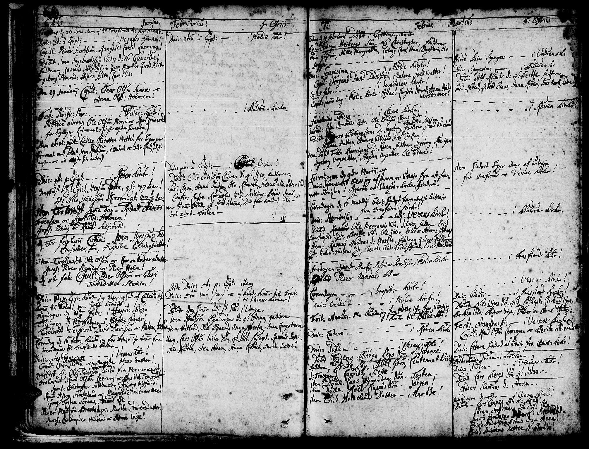 SAT, Ministerialprotokoller, klokkerbøker og fødselsregistre - Møre og Romsdal, 547/L0599: Parish register (official) no. 547A01, 1721-1764, p. 70-71