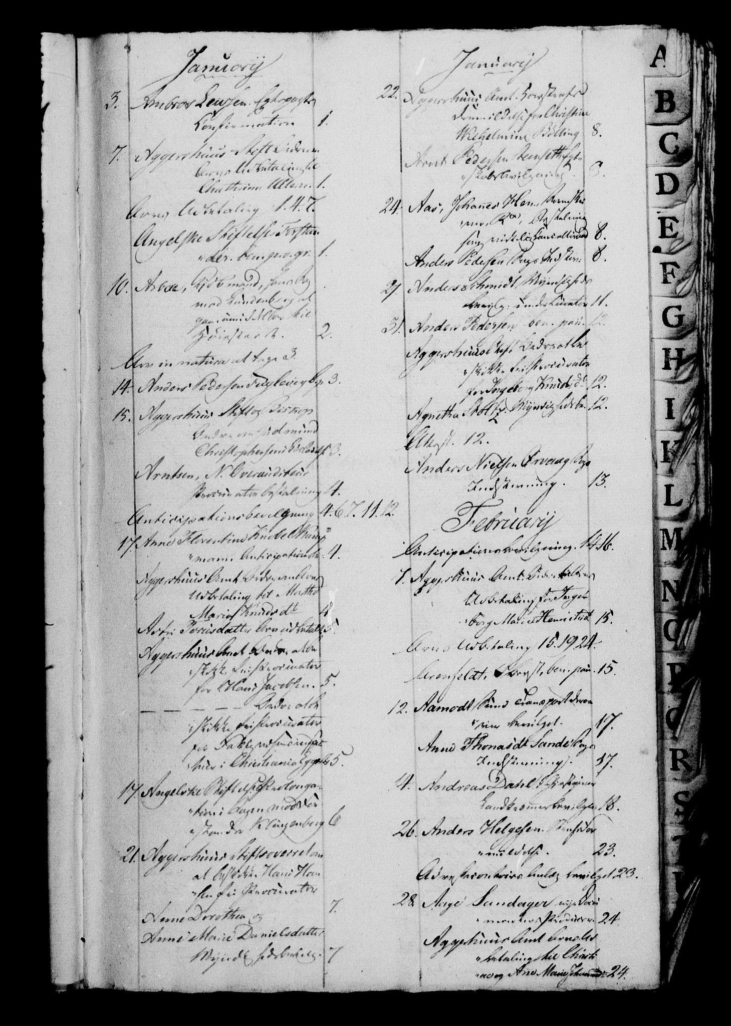 RA, Danske Kanselli 1800-1814, H/Hf/Hfb/Hfbc/L0013: Underskrivelsesbok m. register, 1812
