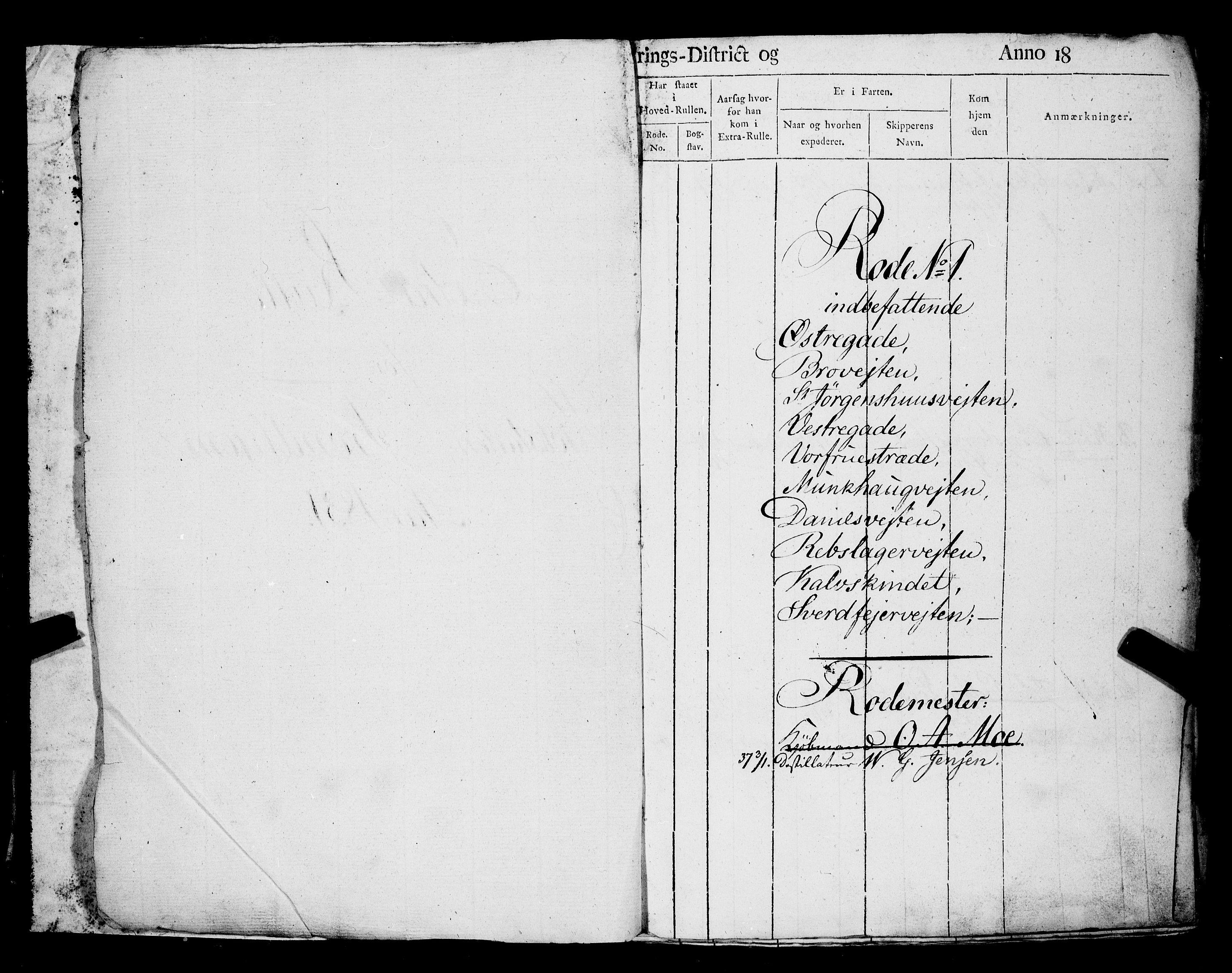 SAT, Sjøinnrulleringen - Trondhjemske distrikt, 01/L0025: --, 1831