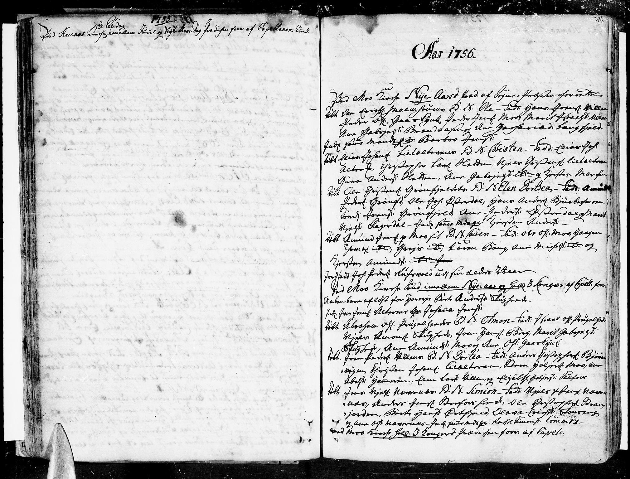 SAT, Ministerialprotokoller, klokkerbøker og fødselsregistre - Nordland, 825/L0348: Parish register (official) no. 825A04, 1752-1788, p. 47