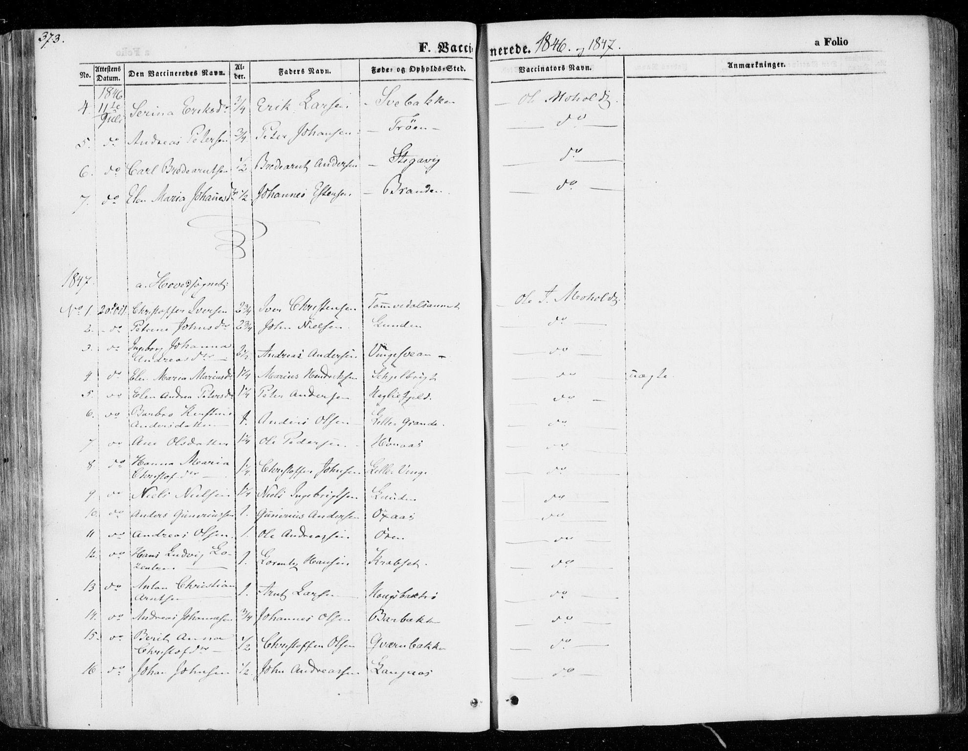 SAT, Ministerialprotokoller, klokkerbøker og fødselsregistre - Nord-Trøndelag, 701/L0007: Parish register (official) no. 701A07 /1, 1842-1854, p. 373