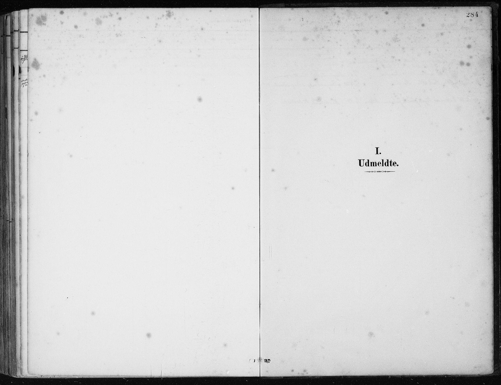 SAB, Os sokneprestembete*, Parish register (official) no. B 1, 1885-1902, p. 284