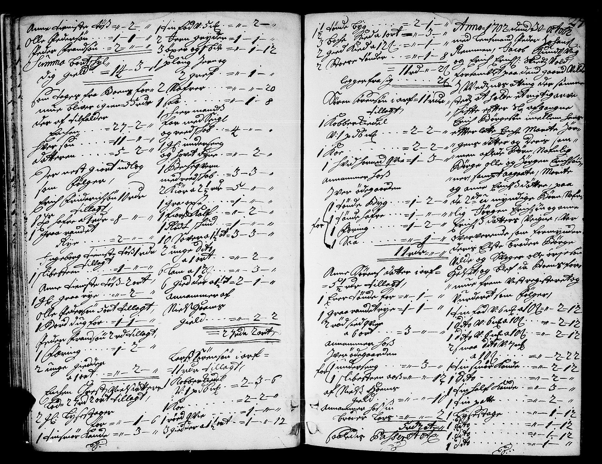 SAT, Romsdal sorenskriveri, 3/3A/L0004: Skifteprotokoll, 1702-1706, p. 26b-27a