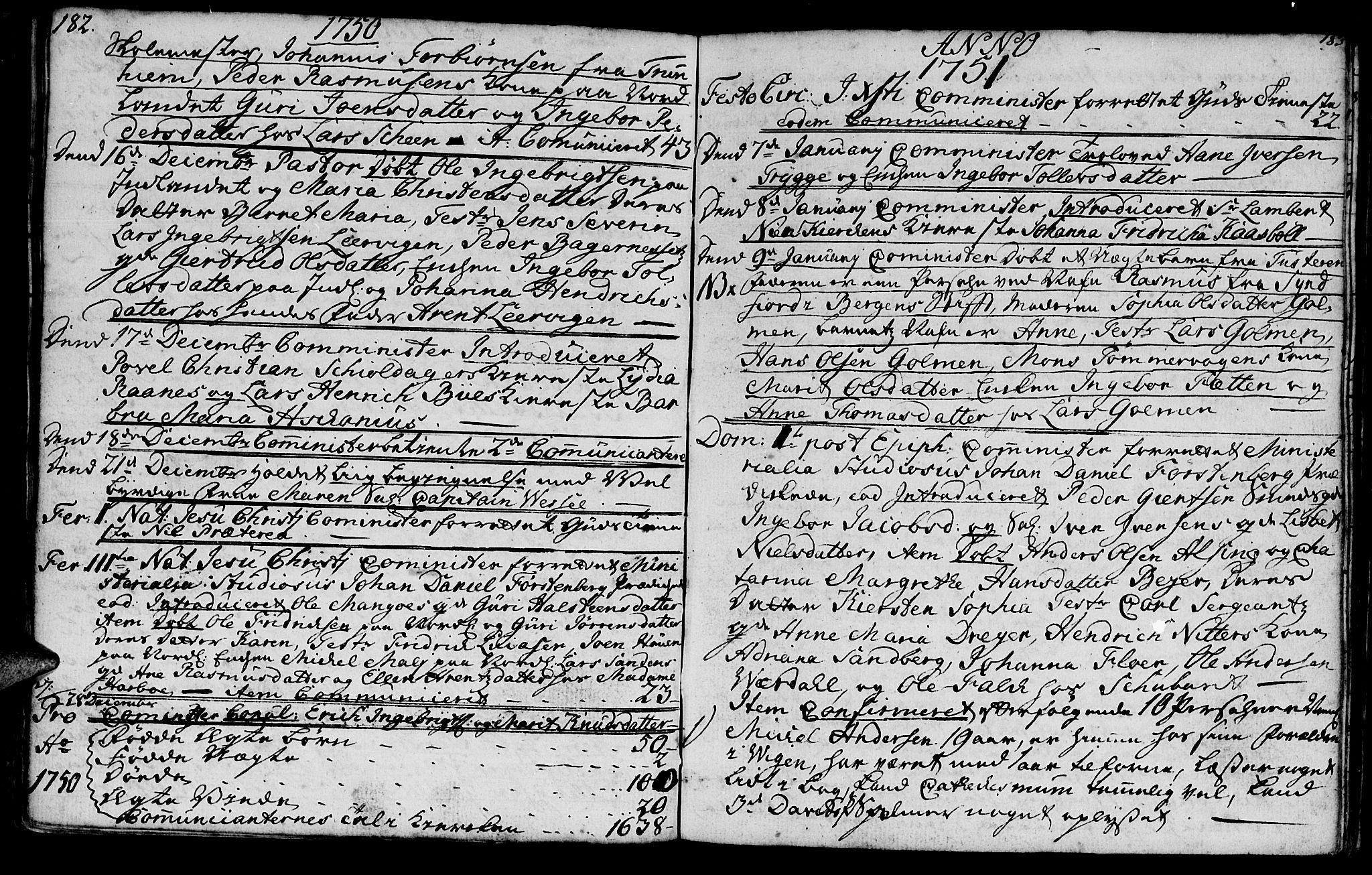SAT, Ministerialprotokoller, klokkerbøker og fødselsregistre - Møre og Romsdal, 572/L0839: Parish register (official) no. 572A02, 1739-1754, p. 182-183