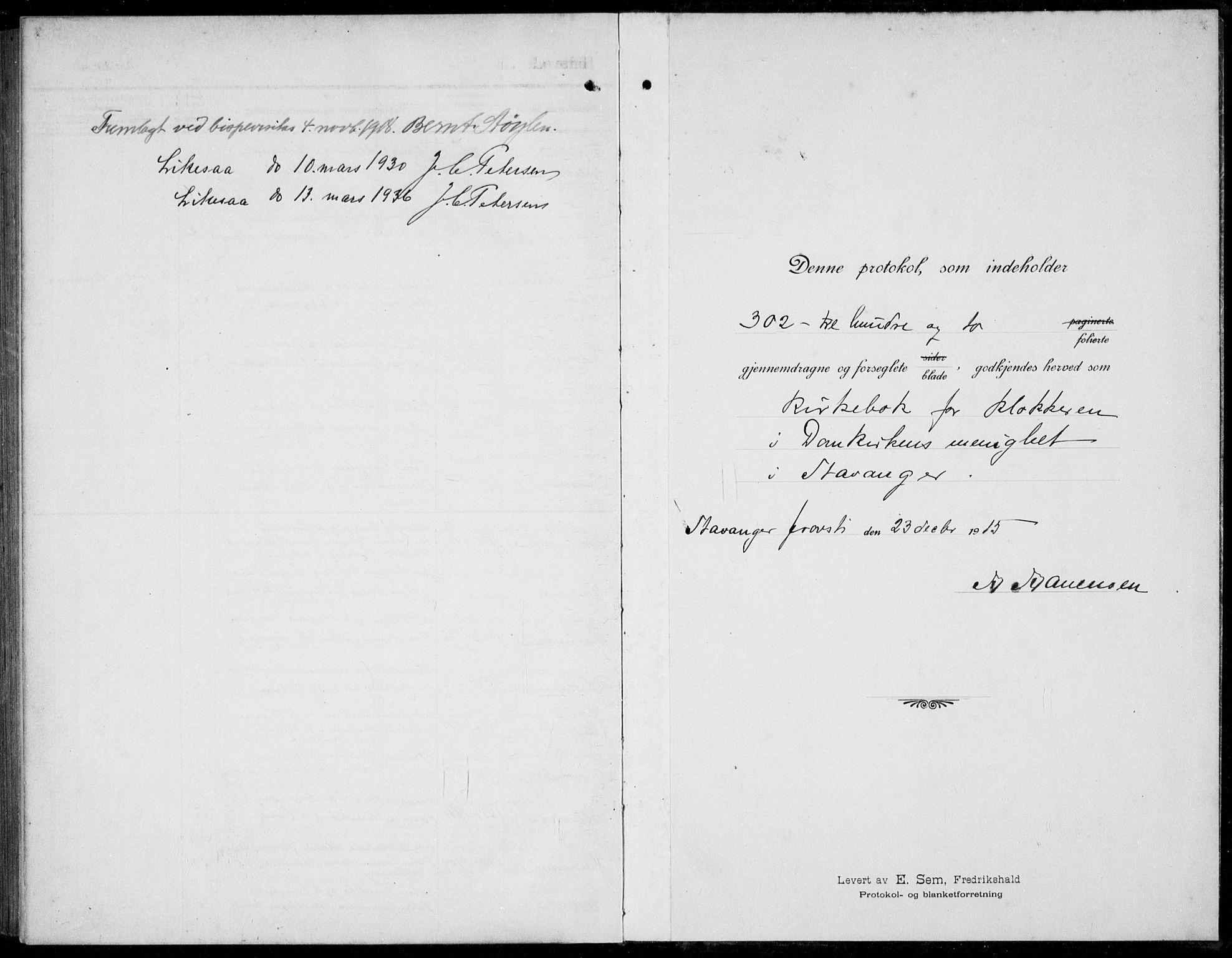 SAST, Domkirken sokneprestkontor, 30/30BB/L0019: Parish register (copy) no. B 19, 1915-1932
