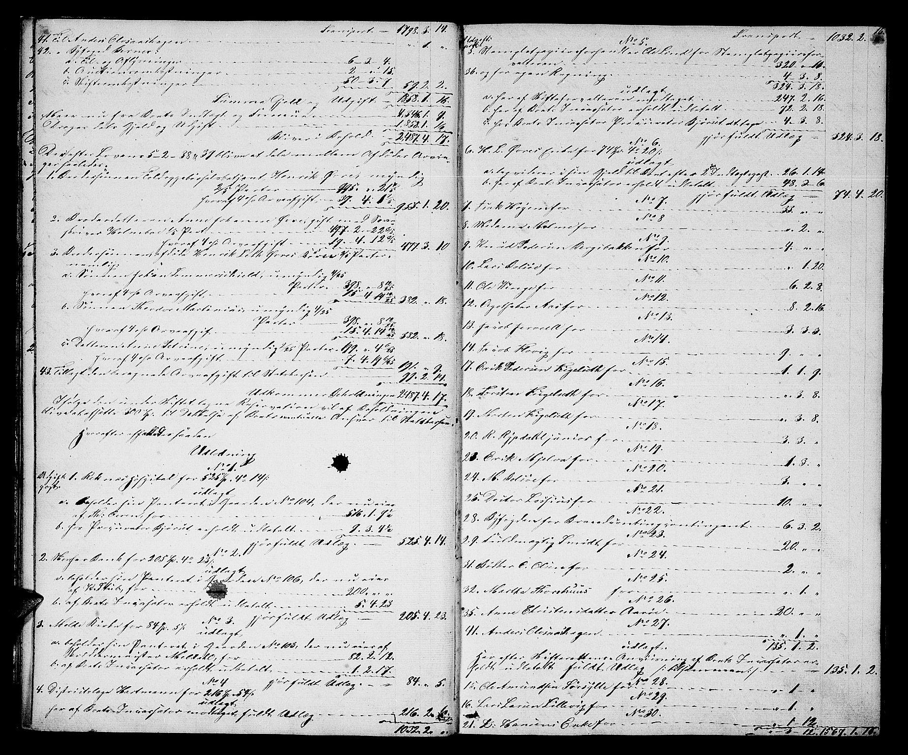 SAT, Molde byfogd, 3/3Ab/L0001: Skifteutlodningsprotokoll, 1842-1867, p. 16