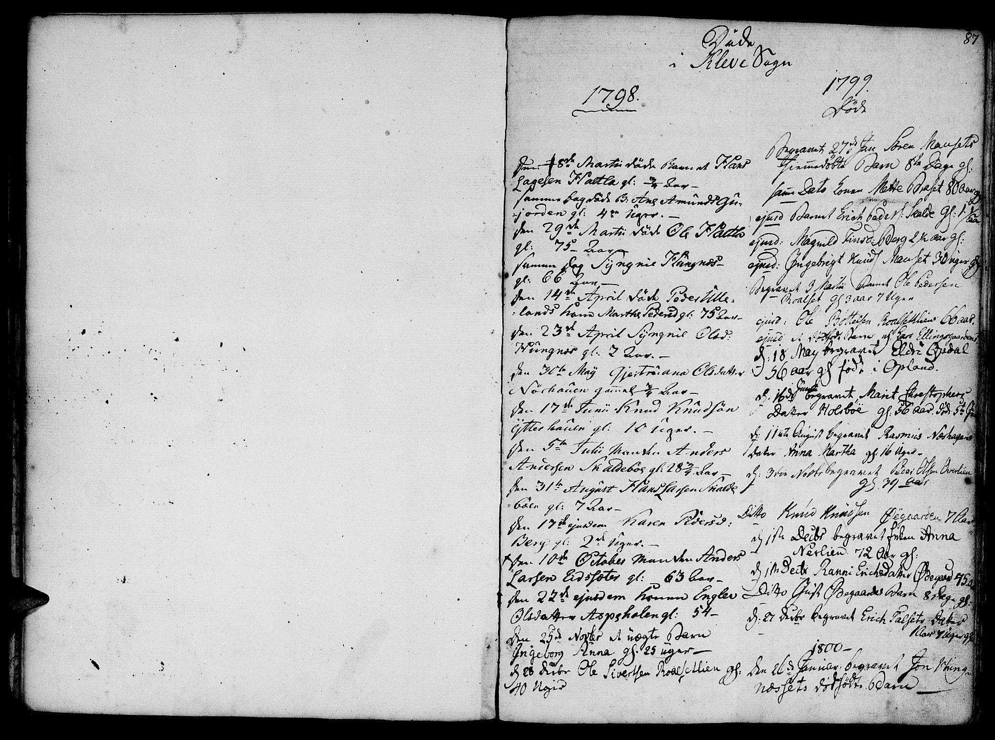 SAT, Ministerialprotokoller, klokkerbøker og fødselsregistre - Møre og Romsdal, 555/L0650: Parish register (official) no. 555A02 /2, 1798-1821, p. 87
