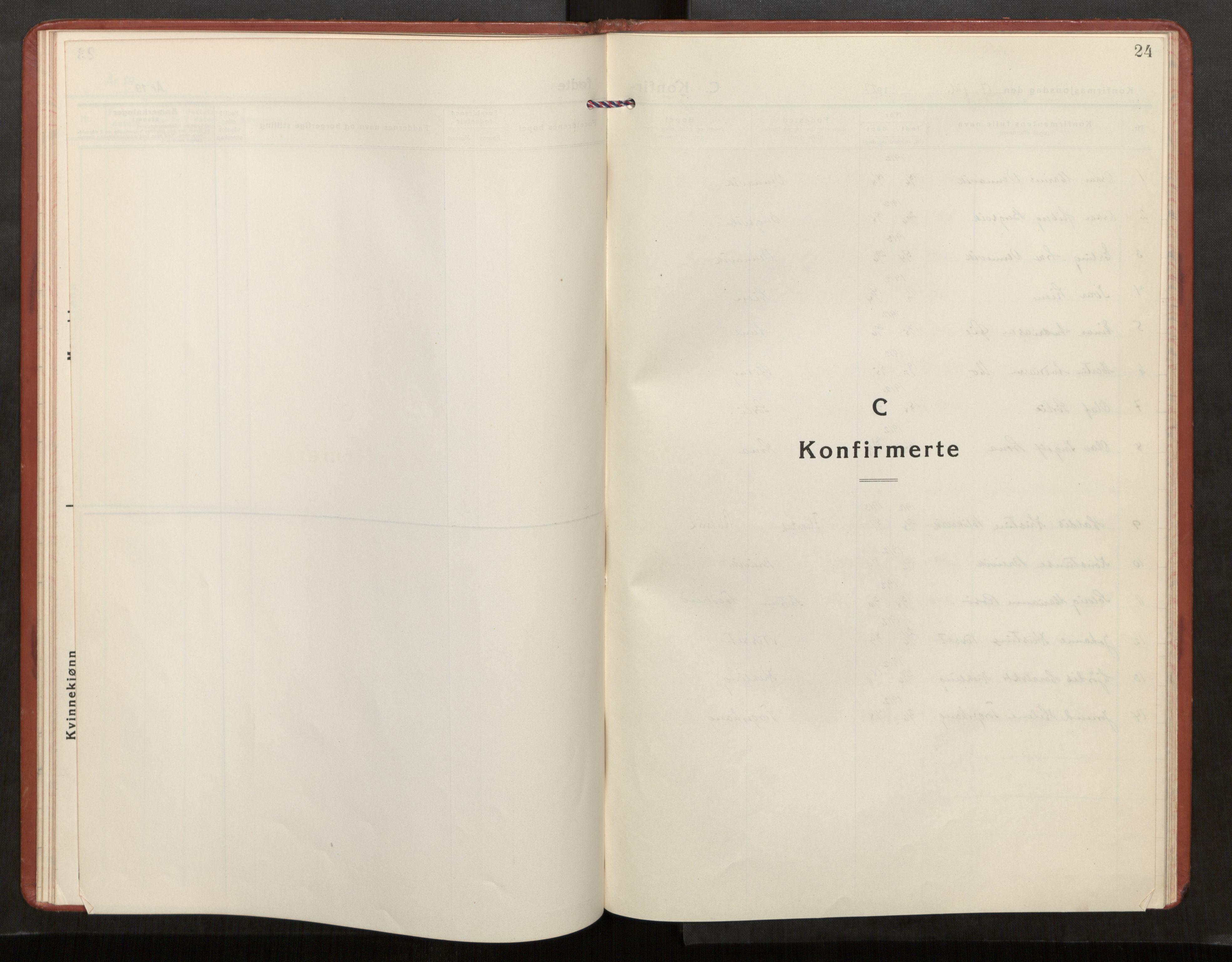 SAT, Kolvereid sokneprestkontor, H/Ha/Haa/L0003: Parish register (official) no. 3, 1927-1935, p. 24