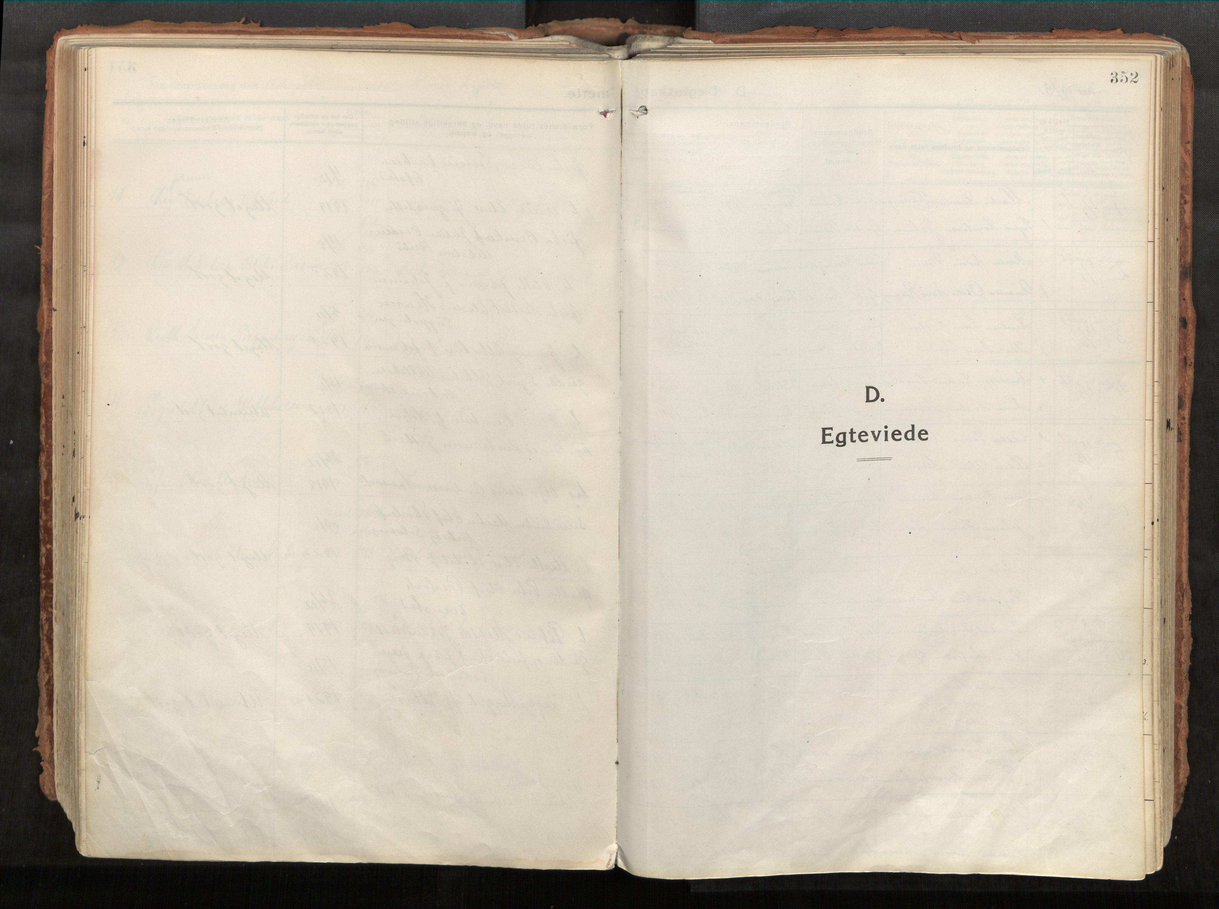 SAT, Vikna sokneprestkontor*, Parish register (official) no. 1, 1913-1934, p. 352