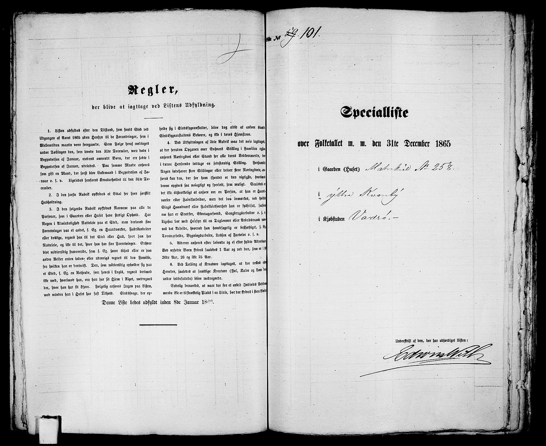 RA, 1865 census for Vadsø/Vadsø, 1865, p. 208