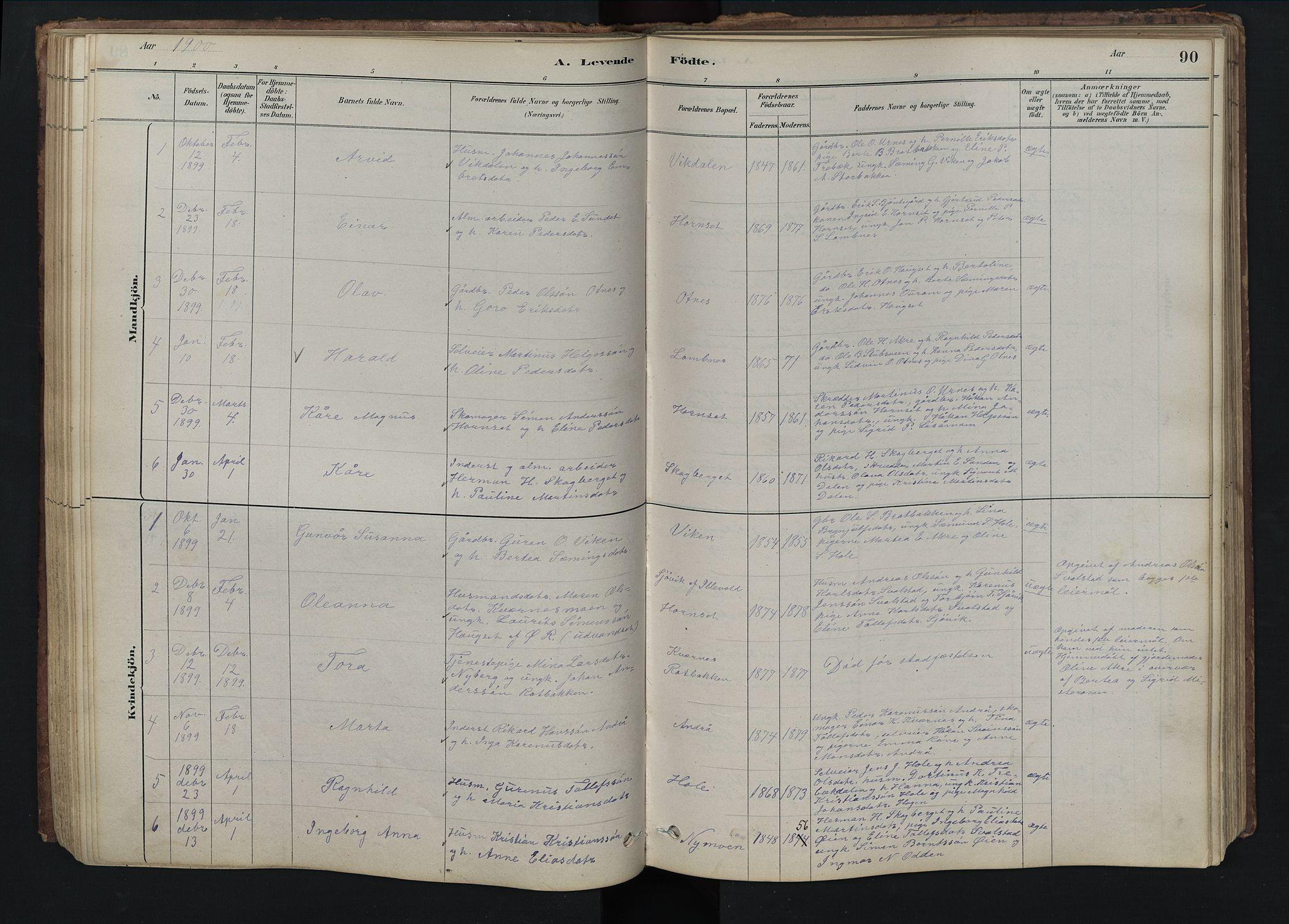 SAH, Rendalen prestekontor, H/Ha/Hab/L0009: Parish register (copy) no. 9, 1879-1902, p. 90