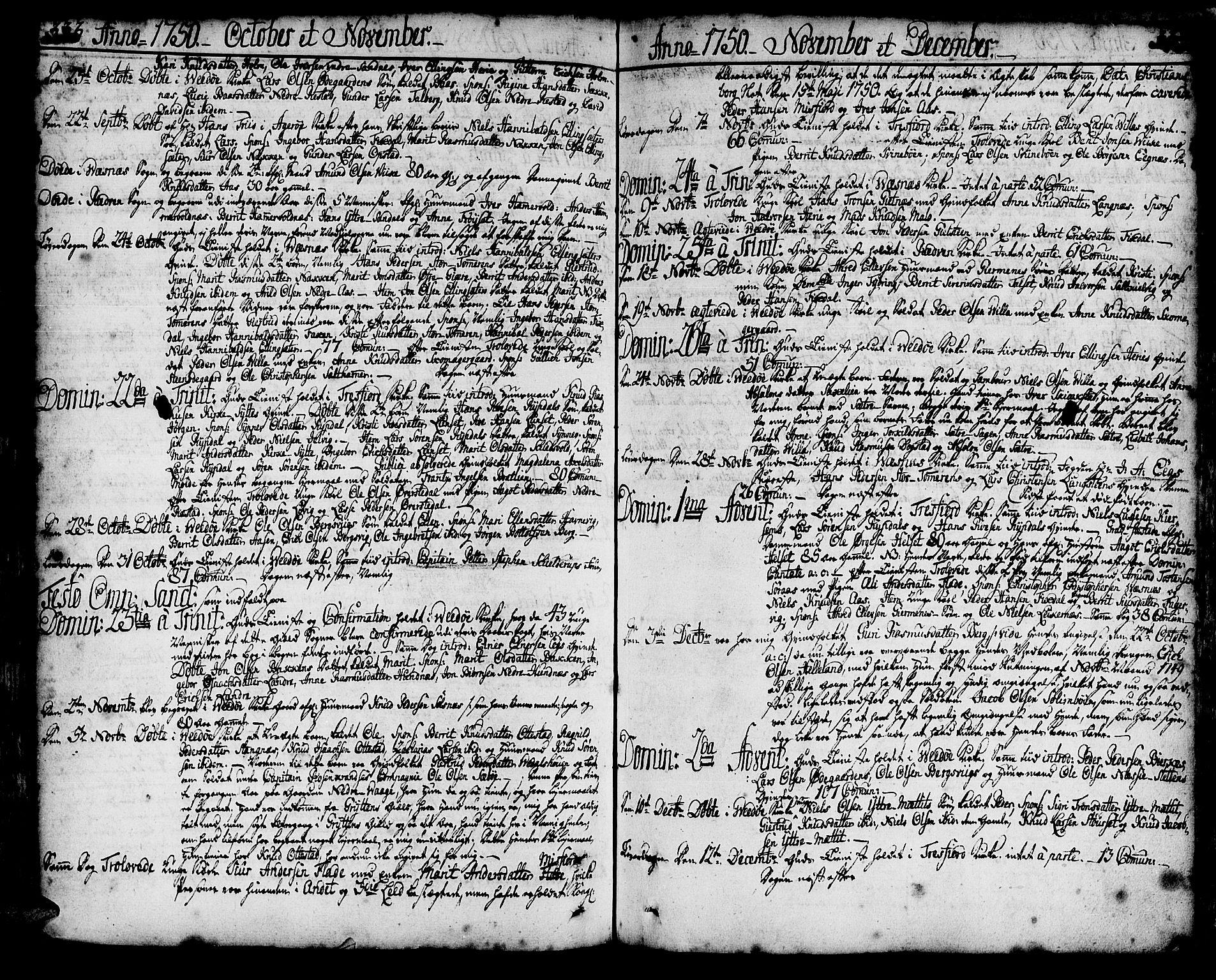 SAT, Ministerialprotokoller, klokkerbøker og fødselsregistre - Møre og Romsdal, 547/L0599: Parish register (official) no. 547A01, 1721-1764, p. 333-334