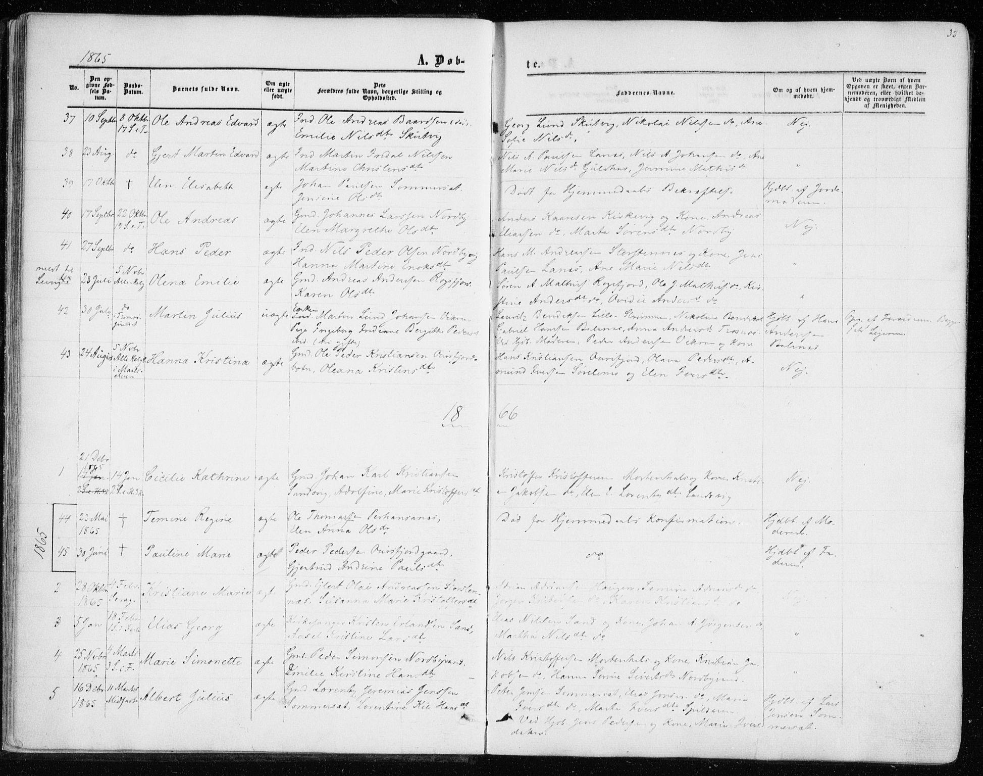 SATØ, Balsfjord sokneprestembete, Parish register (official) no. 1, 1858-1870, p. 32