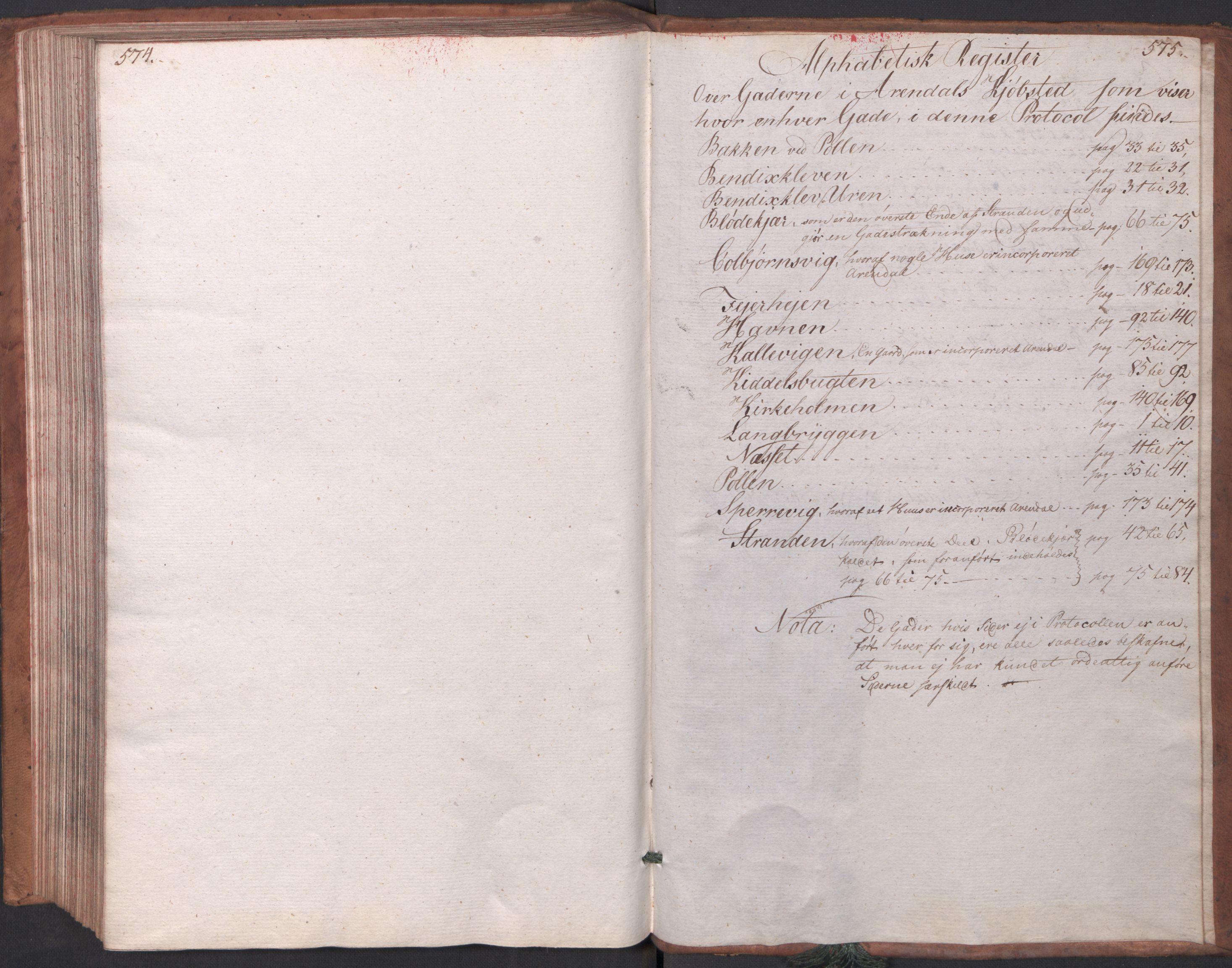 RA, Kommersekollegiet, Brannforsikringskontoret 1767-1814, F/Fa/L0003: Arendal, 1807-1817, p. 574-575