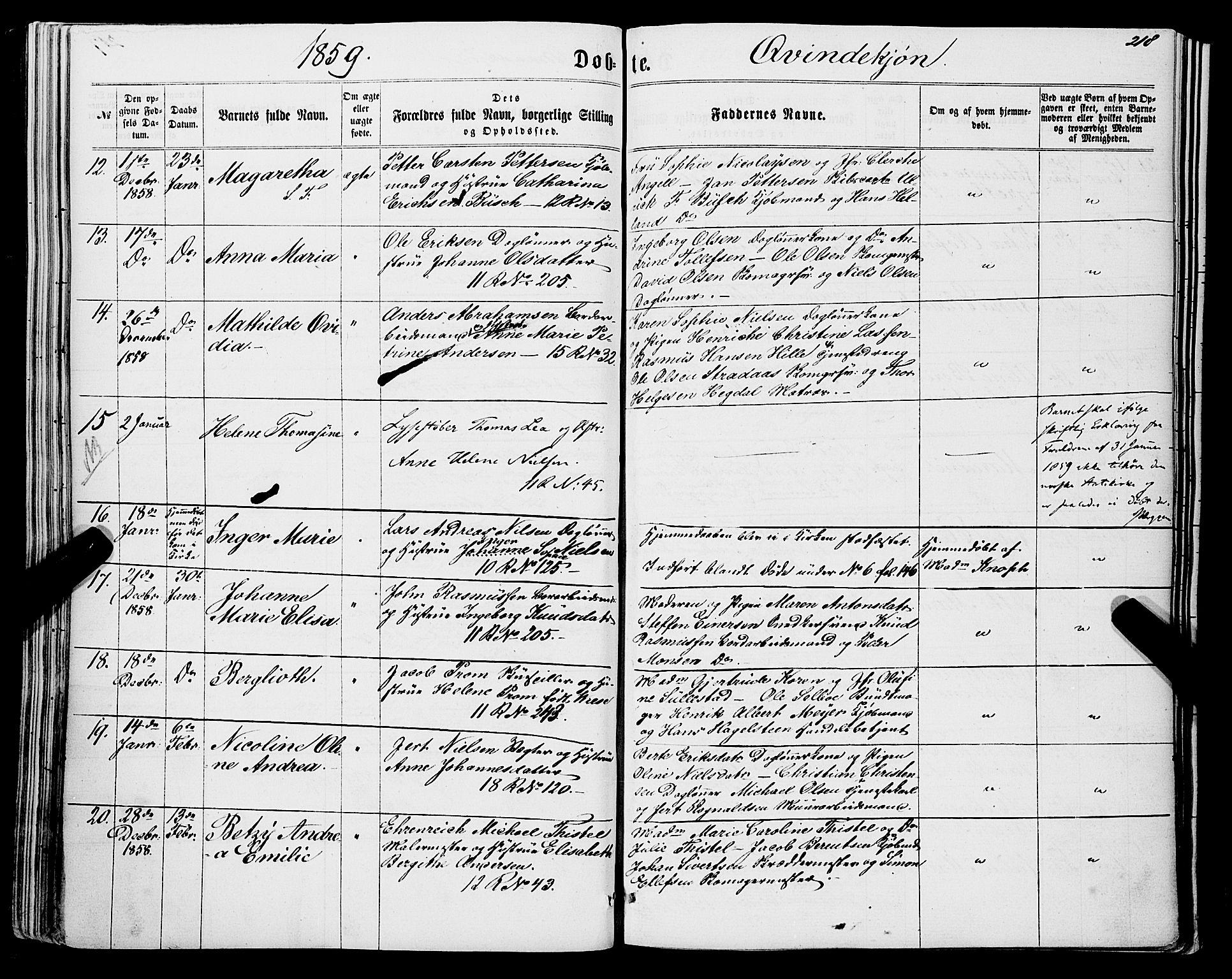 SAB, Domkirken sokneprestembete, H/Haa/L0021: Parish register (official) no. B 4, 1859-1871, p. 218