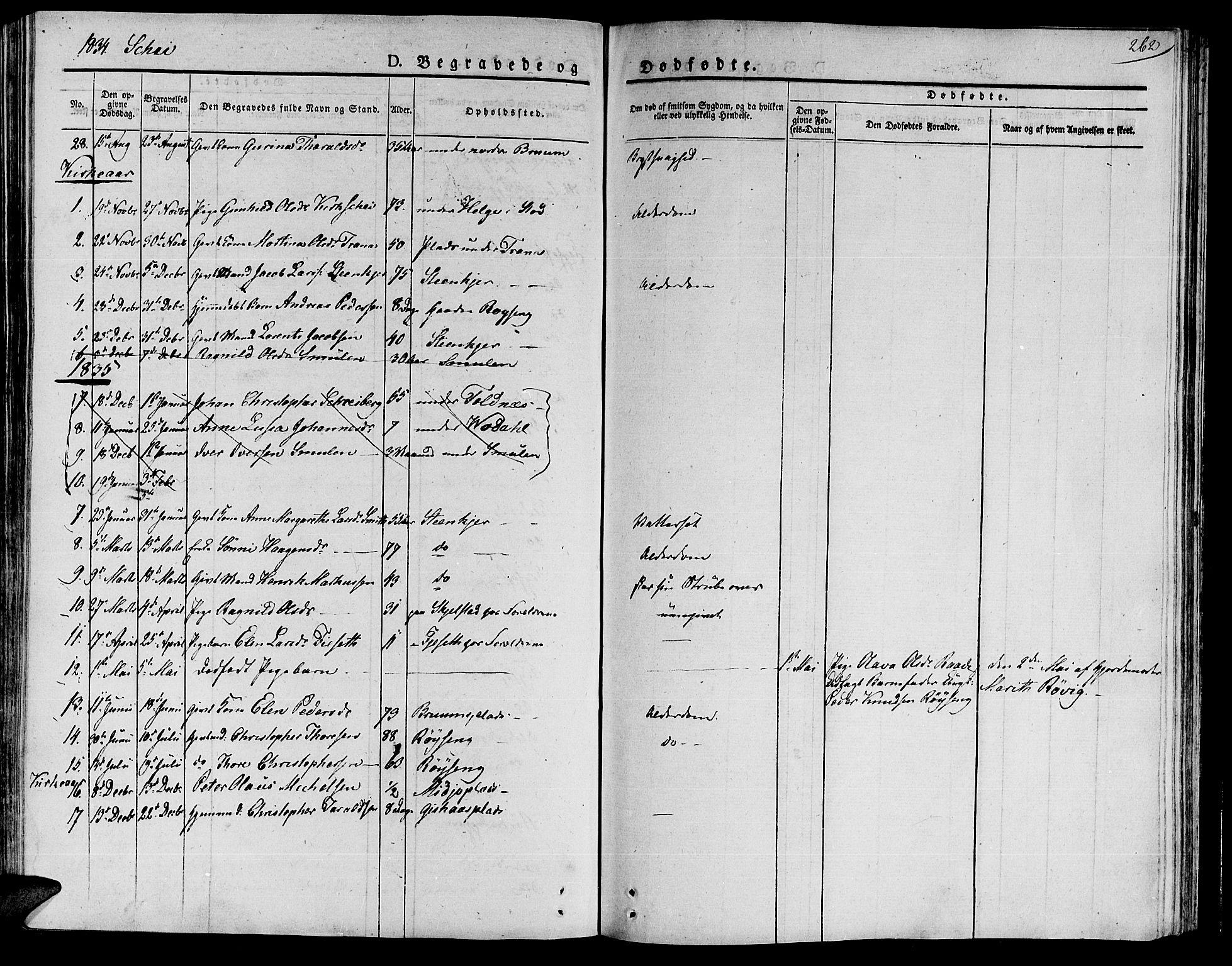 SAT, Ministerialprotokoller, klokkerbøker og fødselsregistre - Nord-Trøndelag, 735/L0336: Parish register (official) no. 735A05 /2, 1825-1835, p. 262