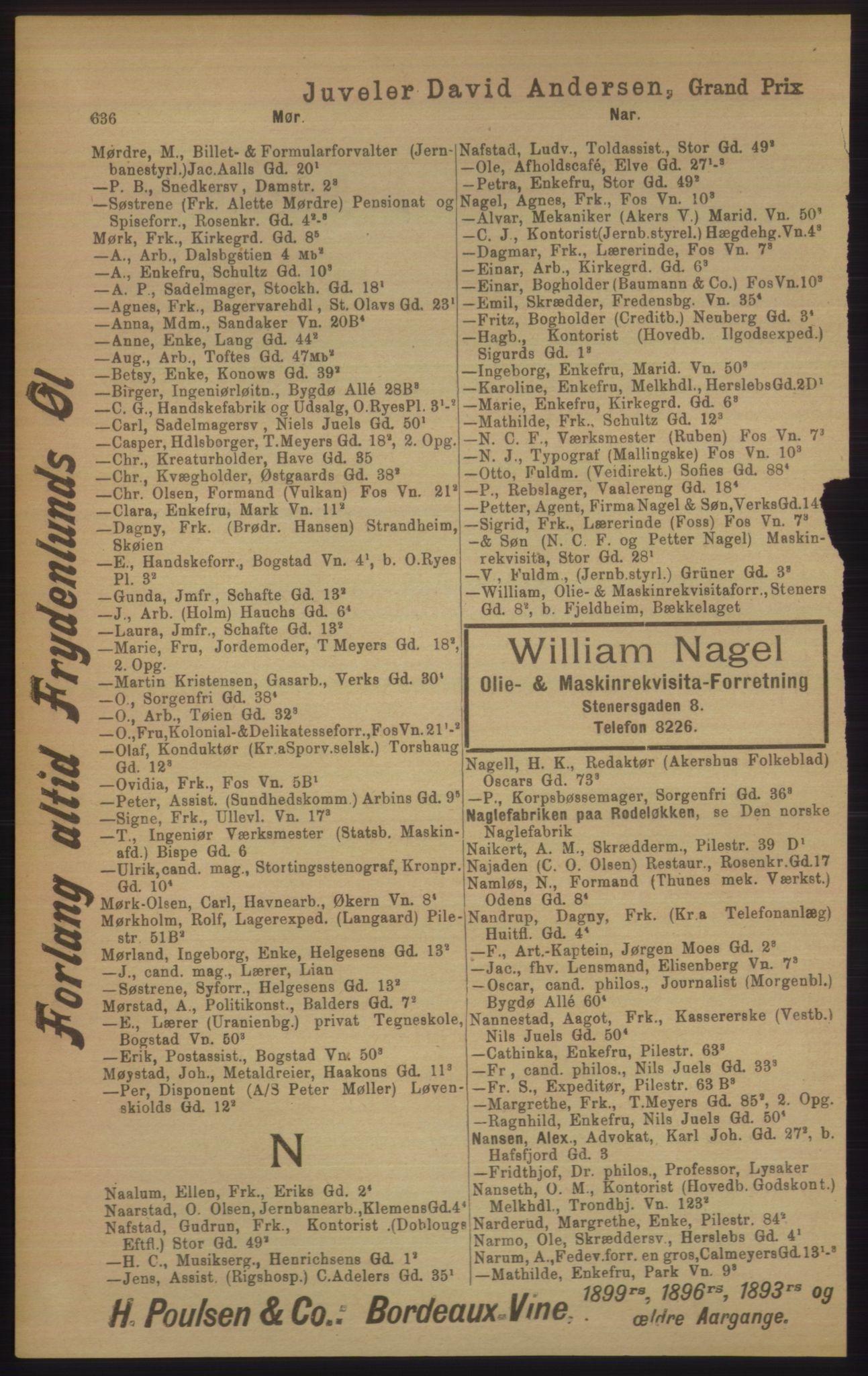 PUBL, Kristiania/Oslo adressebok, 1906, p. 636
