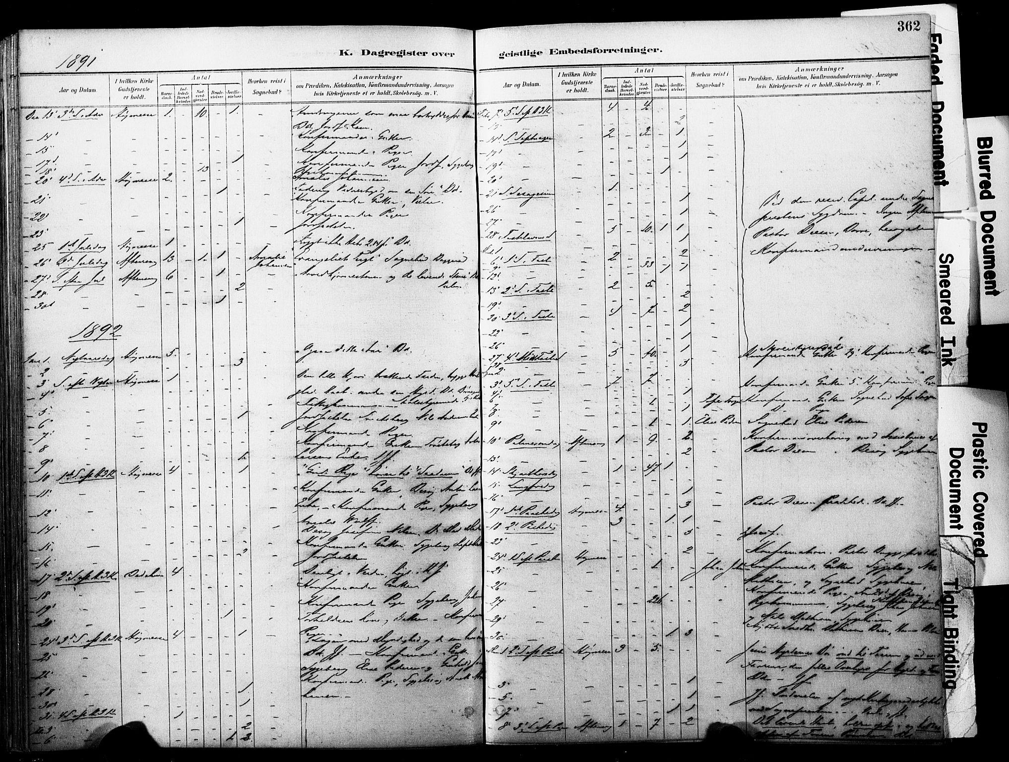 SAKO, Horten kirkebøker, F/Fa/L0004: Parish register (official) no. 4, 1888-1895, p. 362