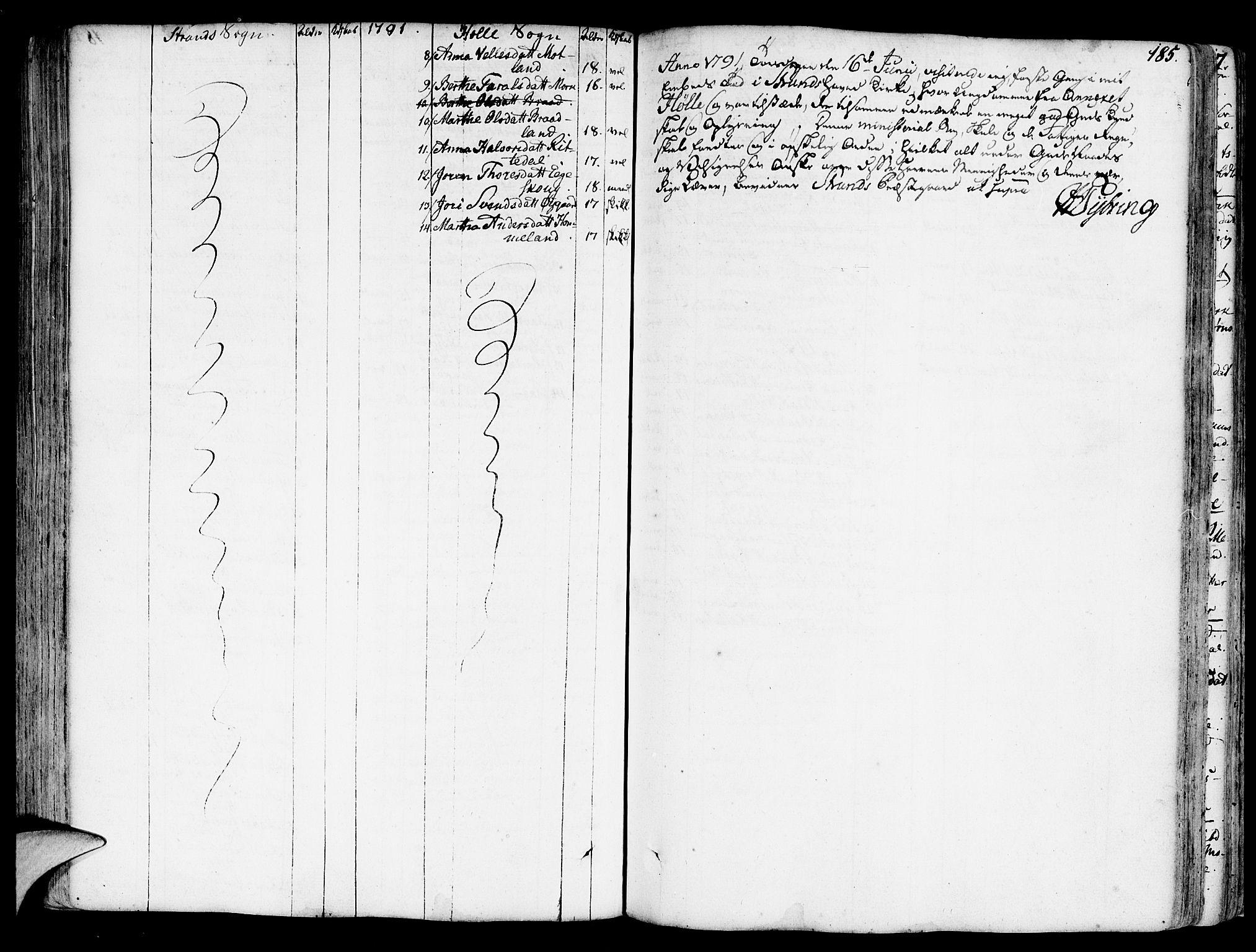 SAST, Strand sokneprestkontor, H/Ha/Haa/L0003: Parish register (official) no. A 3, 1769-1816, p. 185