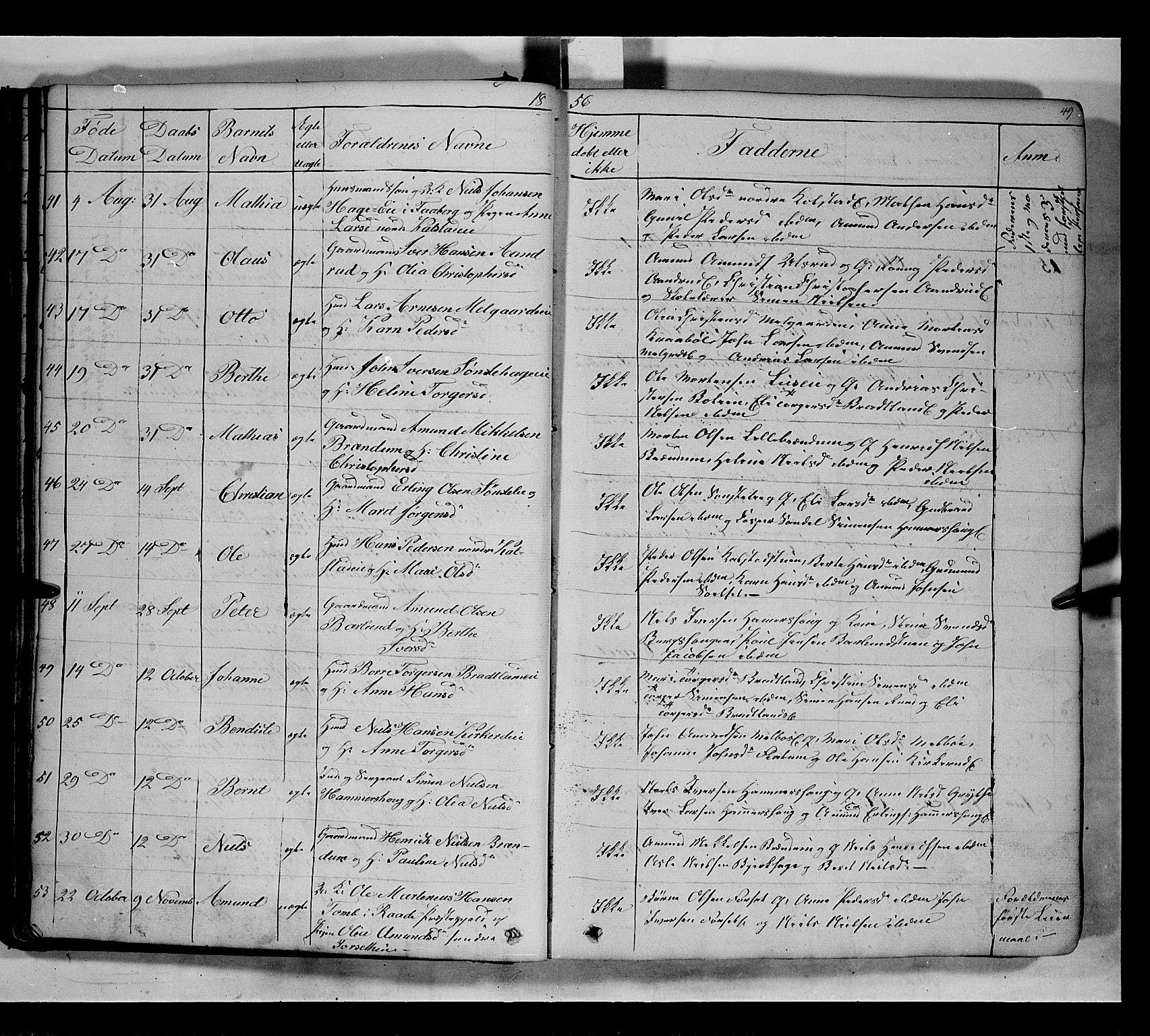 SAH, Gausdal prestekontor, Parish register (copy) no. 5, 1846-1867, p. 49
