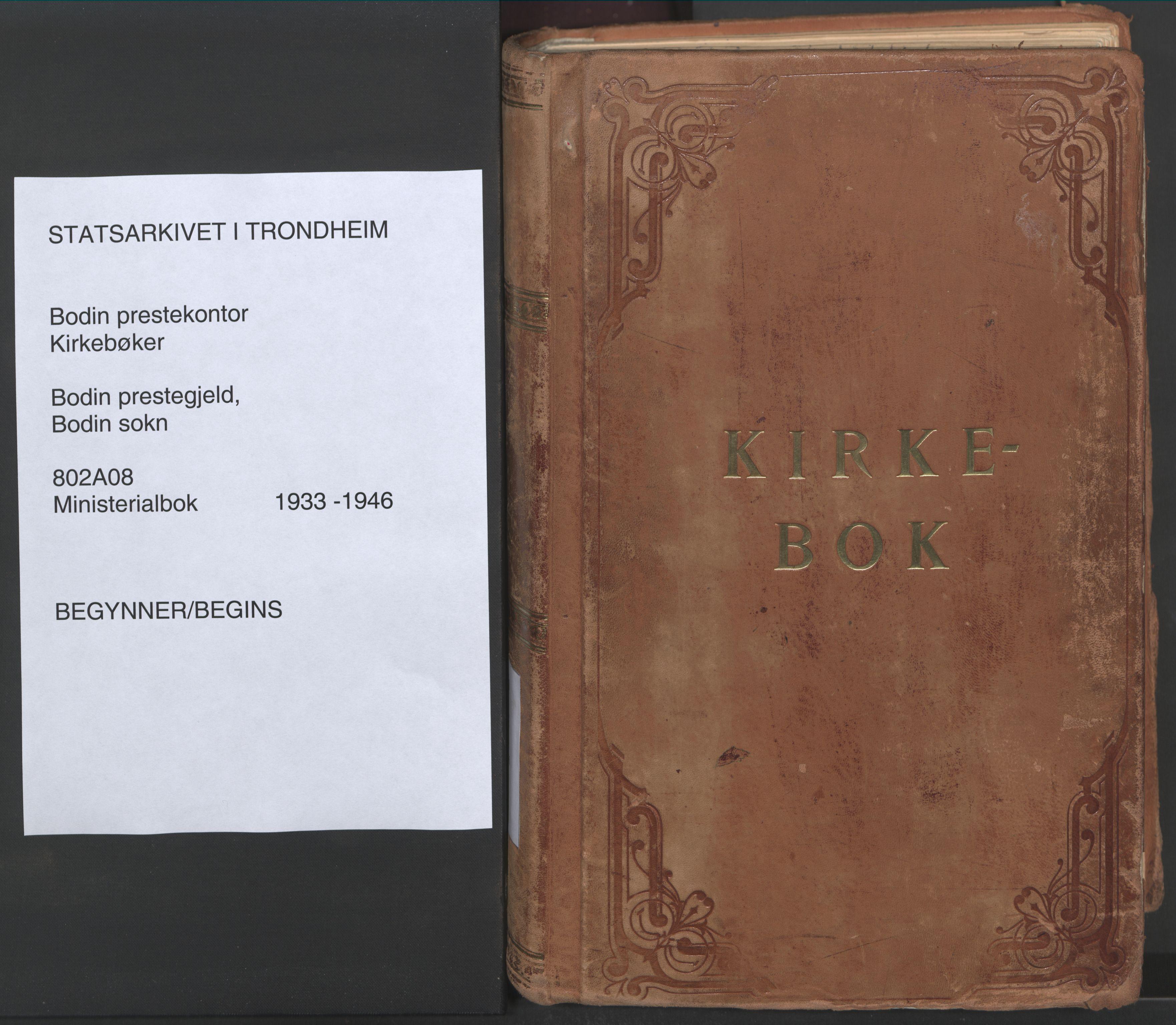 SAT, Ministerialprotokoller, klokkerbøker og fødselsregistre - Nordland, 802/L0061: Parish register (official) no. 802A08, 1933-1946