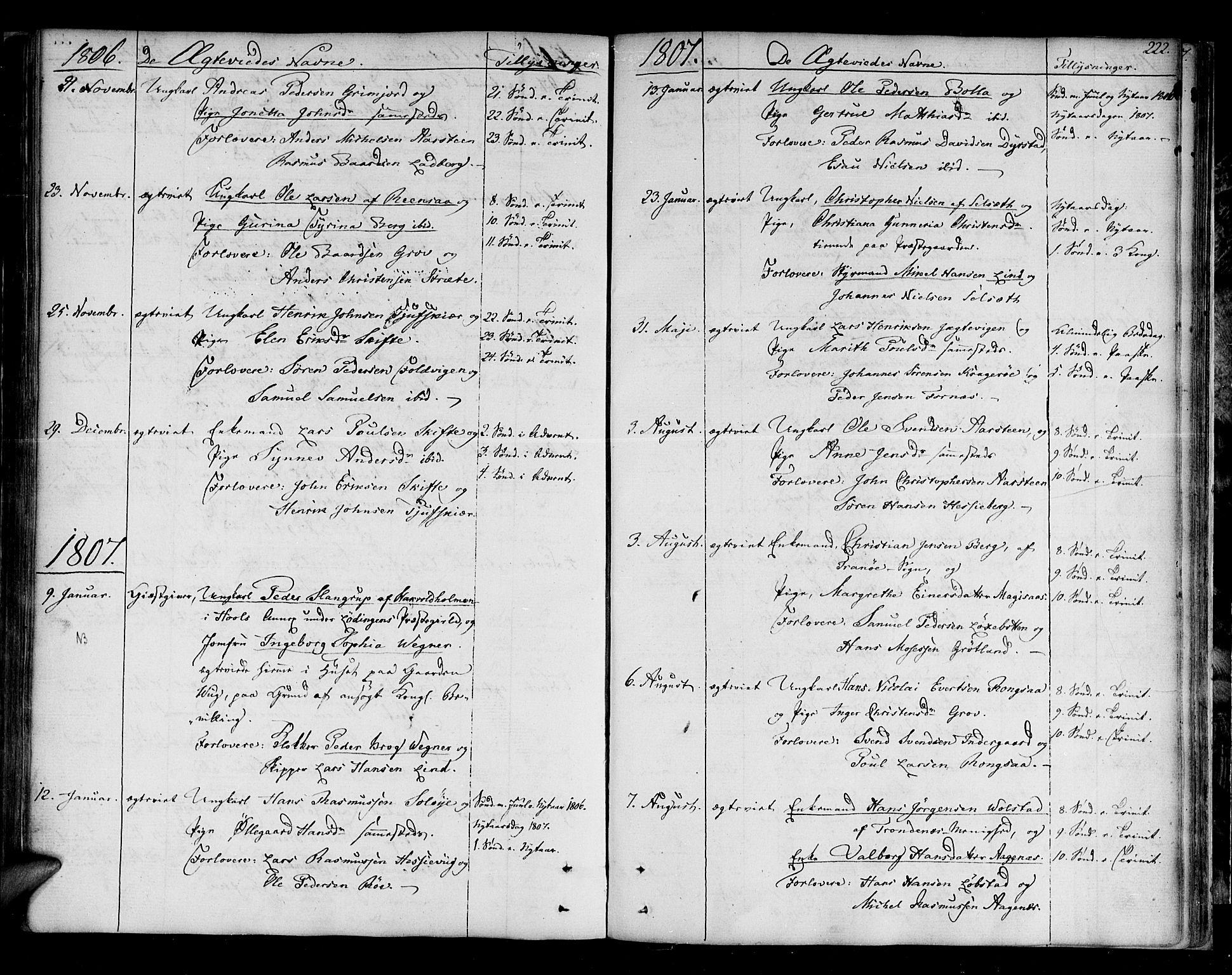 SATØ, Ibestad sokneprestembete, H/Ha/Haa/L0004kirke: Parish register (official) no. 4, 1801-1824, p. 222