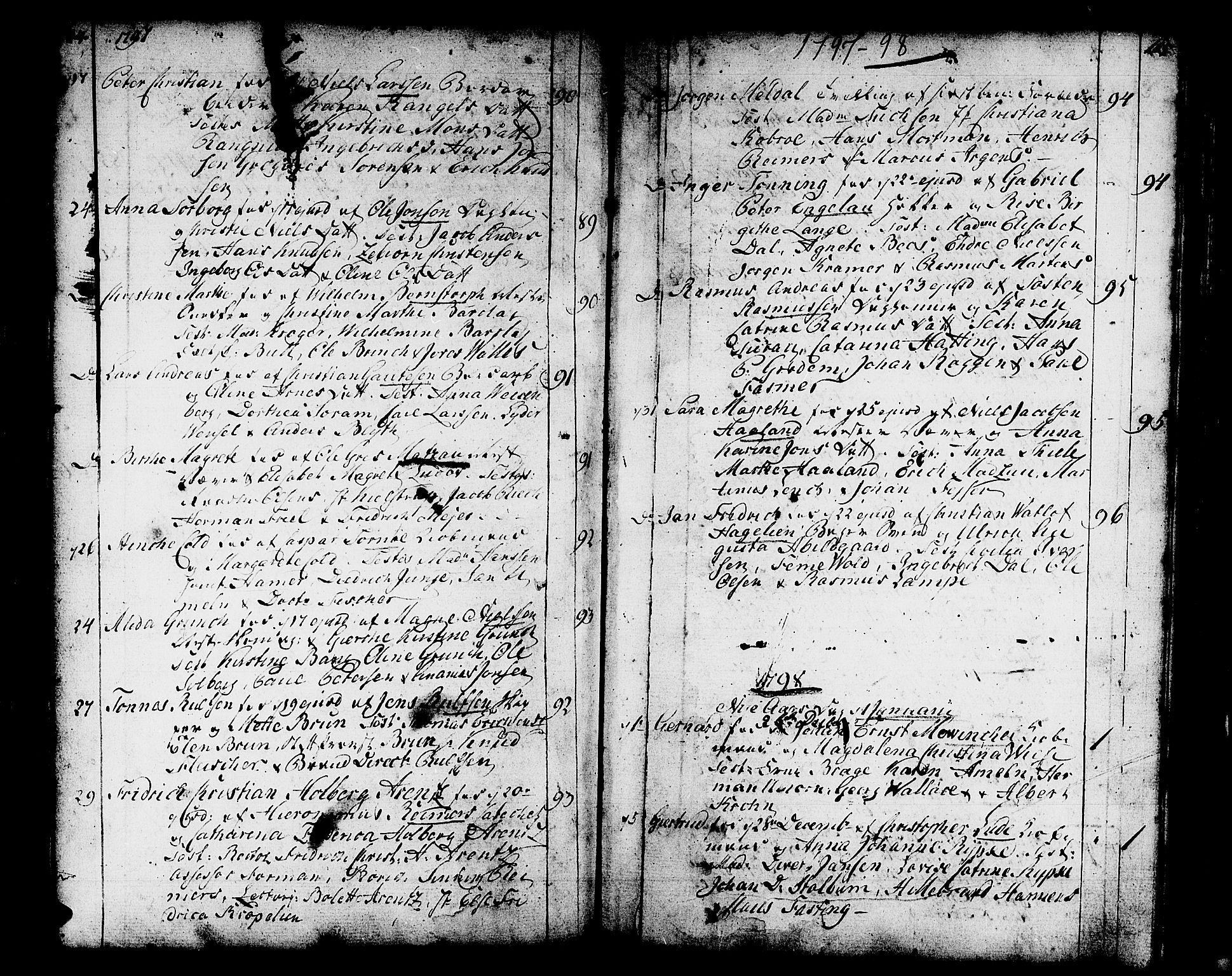 SAB, Domkirken sokneprestembete, H/Haa/L0004: Parish register (official) no. A 4, 1763-1820, p. 164-165