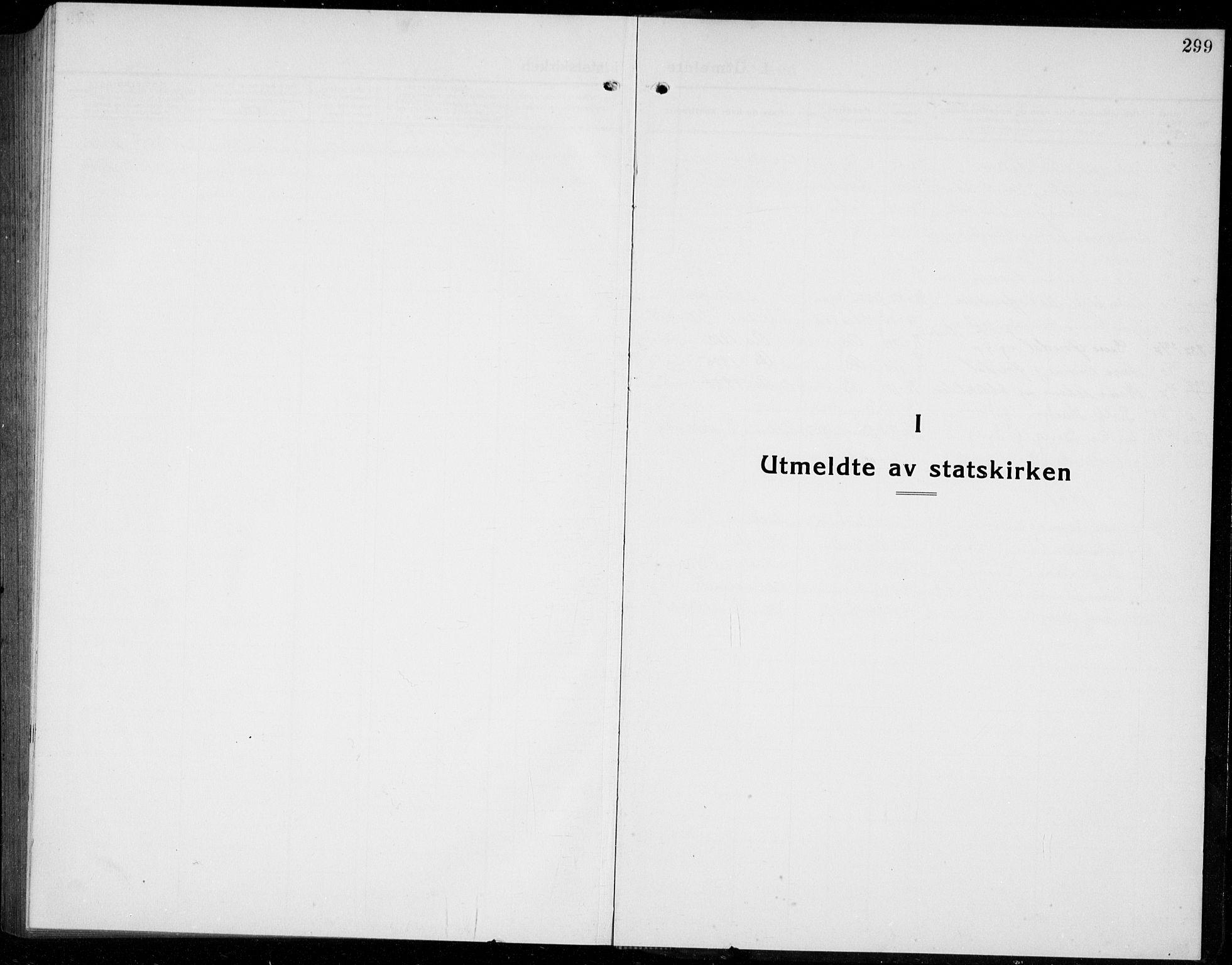 SAB, Os sokneprestembete*, Parish register (copy) no. A 5, 1923-1941, p. 299