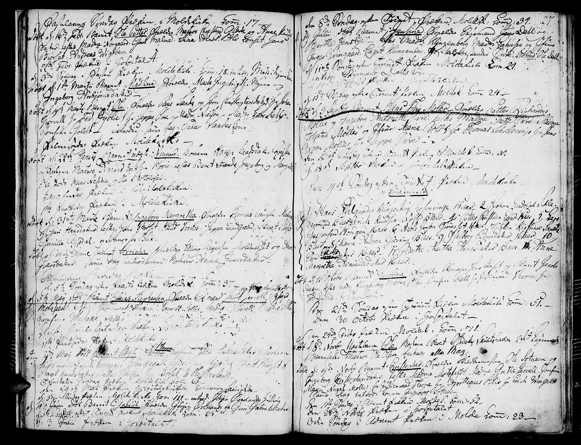 SAT, Ministerialprotokoller, klokkerbøker og fødselsregistre - Møre og Romsdal, 558/L0687: Parish register (official) no. 558A01, 1798-1818, p. 27