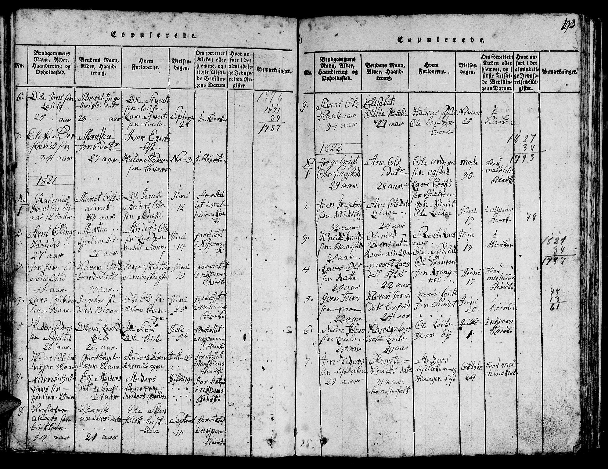 SAT, Ministerialprotokoller, klokkerbøker og fødselsregistre - Sør-Trøndelag, 613/L0393: Parish register (copy) no. 613C01, 1816-1886, p. 193