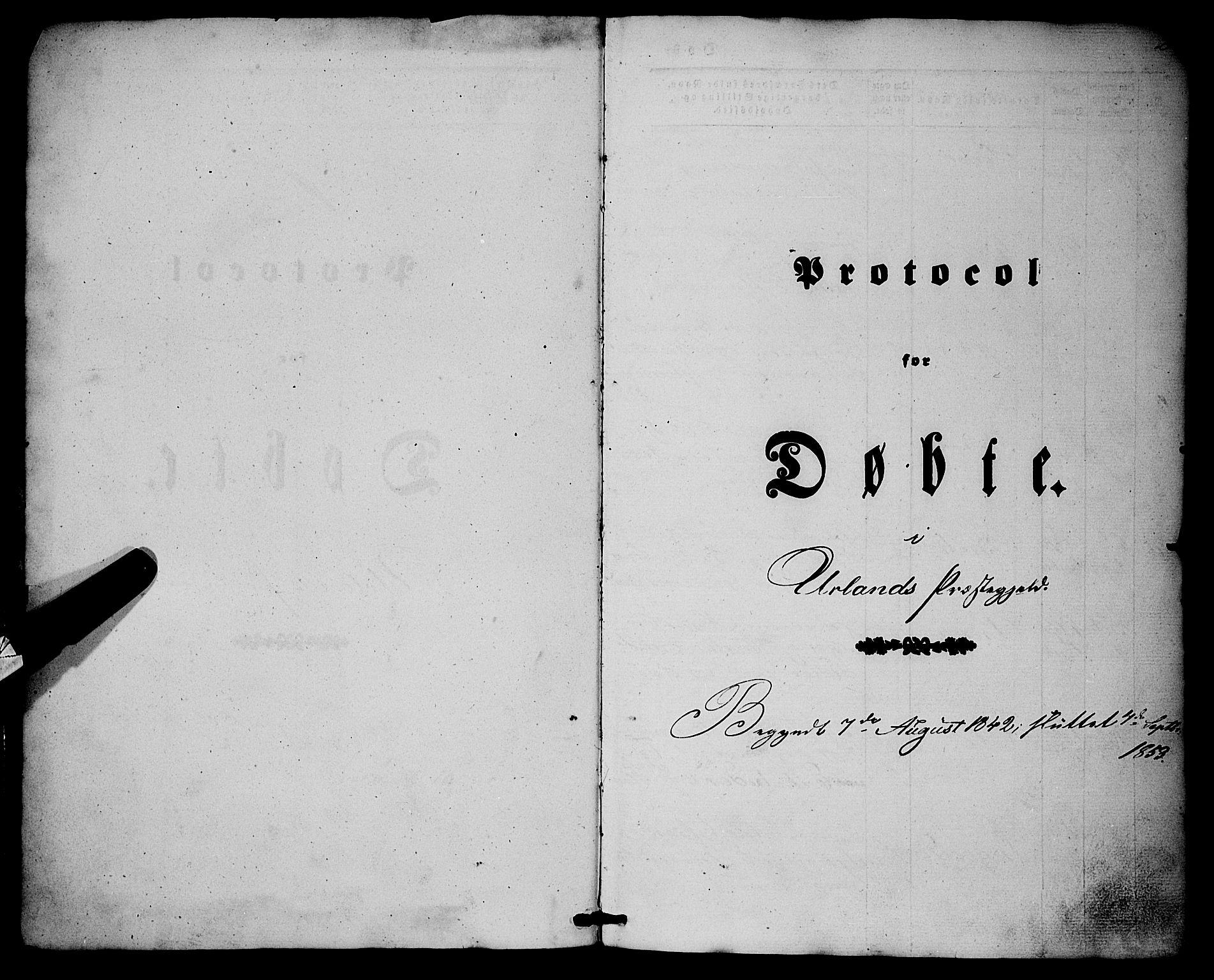 SAB, Aurland Sokneprestembete*, Parish register (official) no. A 7, 1842-1853, p. 2