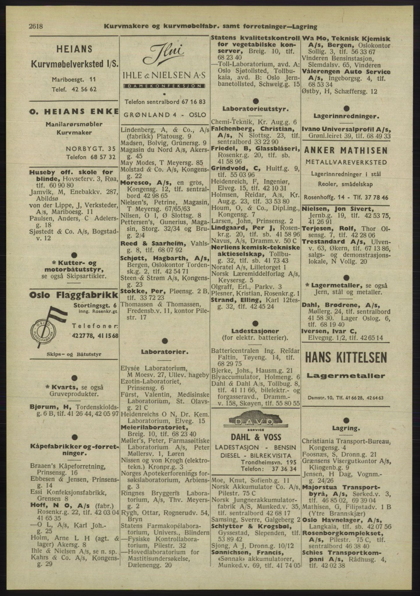 PUBL, Kristiania/Oslo adressebok, 1955, p. 2618