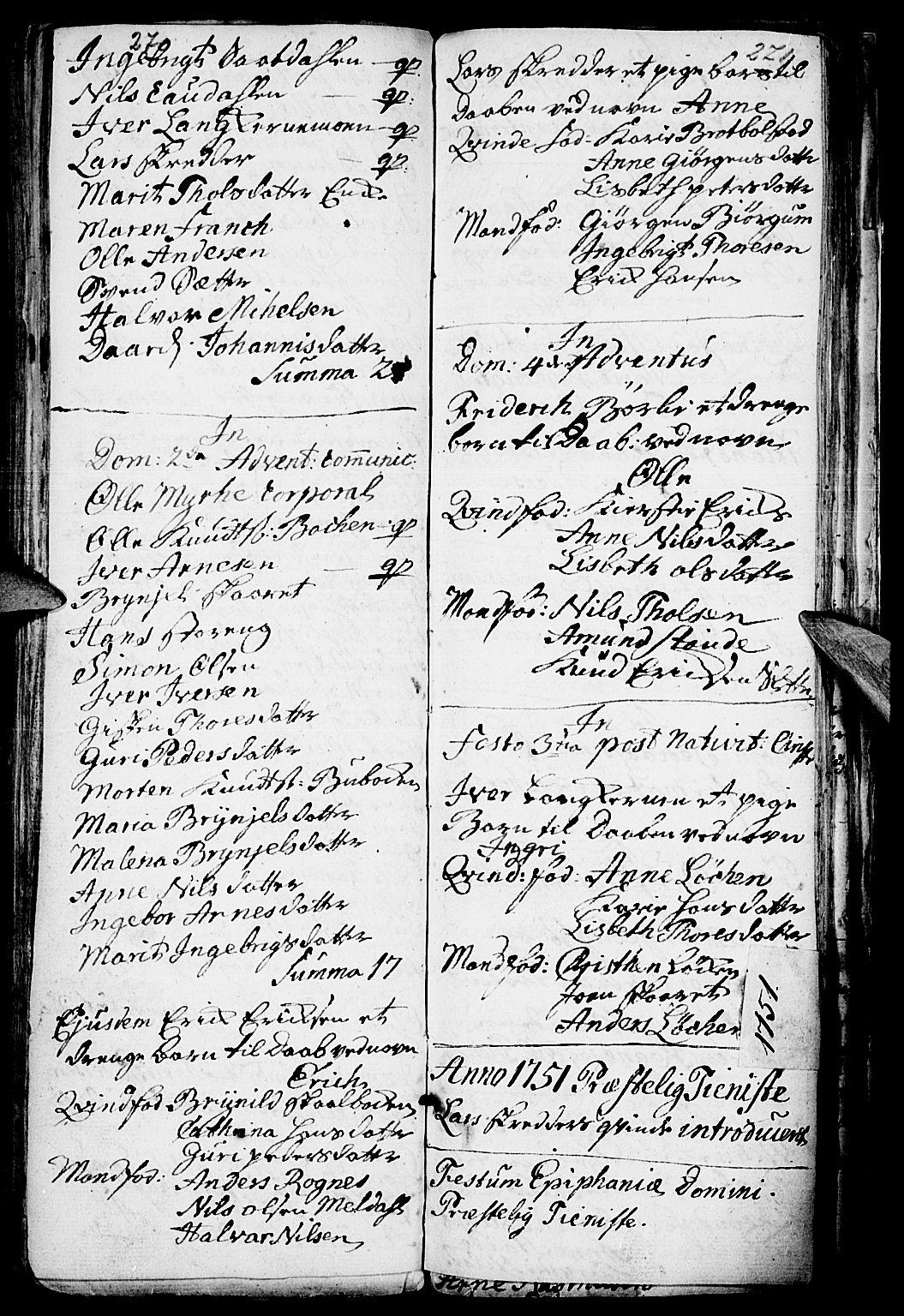 SAH, Kvikne prestekontor, Parish register (official) no. 1, 1740-1756, p. 270-271