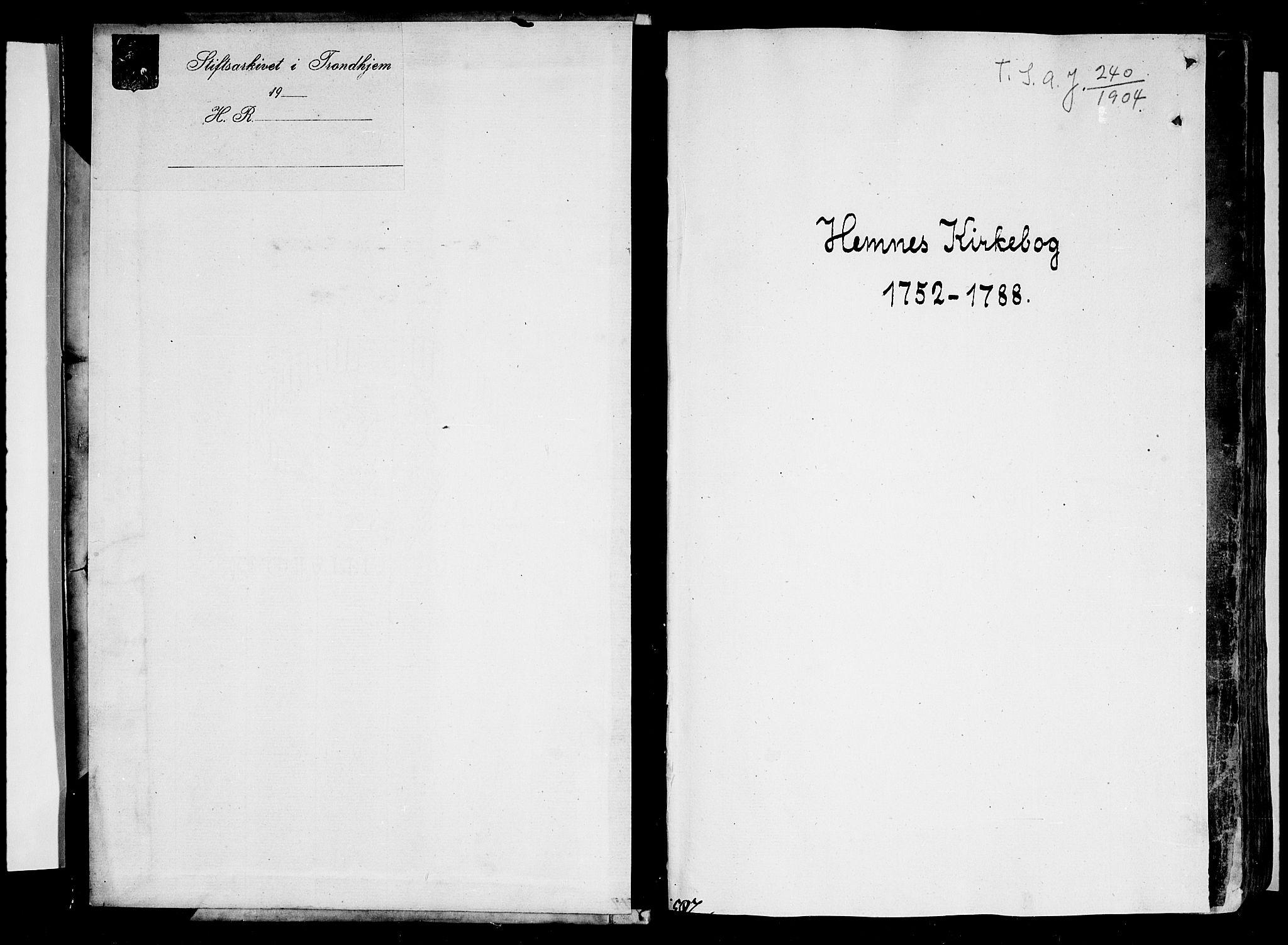 SAT, Ministerialprotokoller, klokkerbøker og fødselsregistre - Nordland, 825/L0348: Parish register (official) no. 825A04, 1752-1788