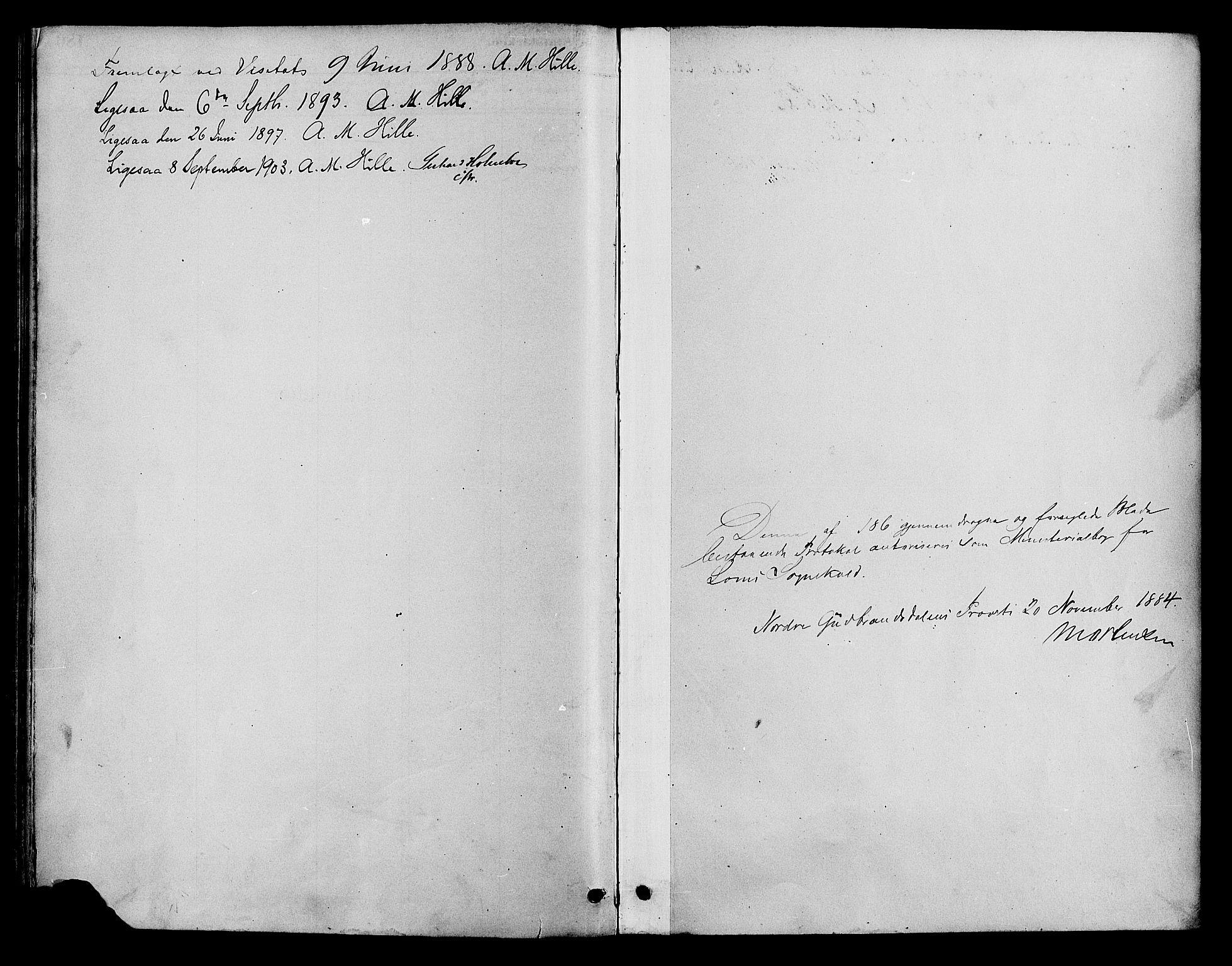 SAH, Lom prestekontor, K/L0008: Parish register (official) no. 8, 1885-1898