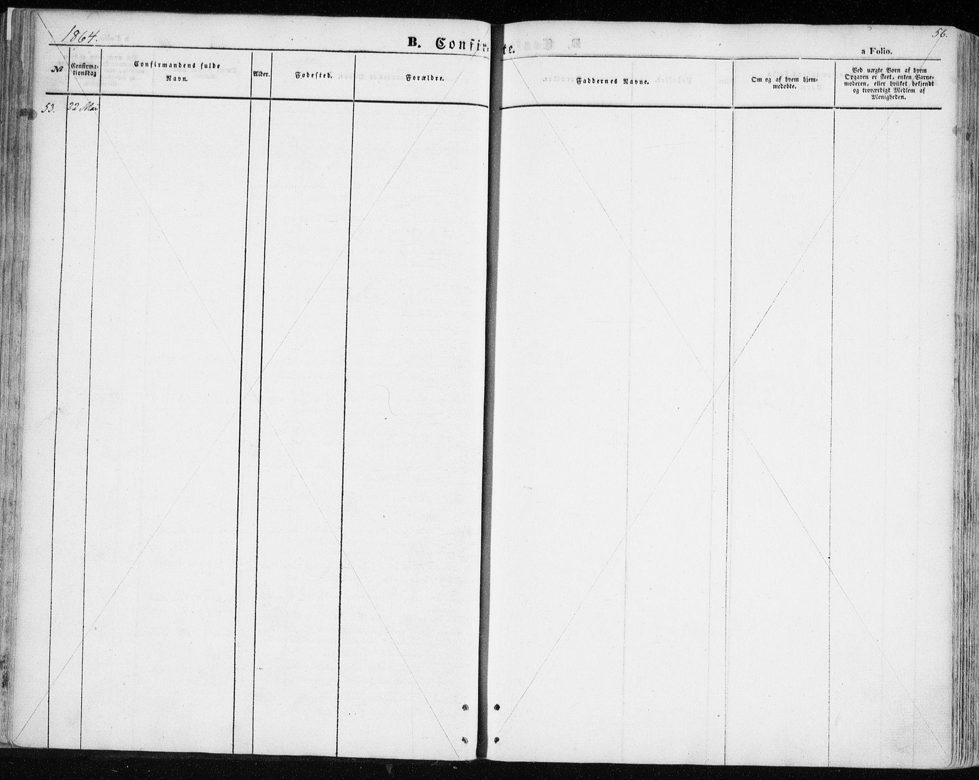 SATØ, Balsfjord sokneprestembete, Parish register (official) no. 3, 1856-1870, p. 56