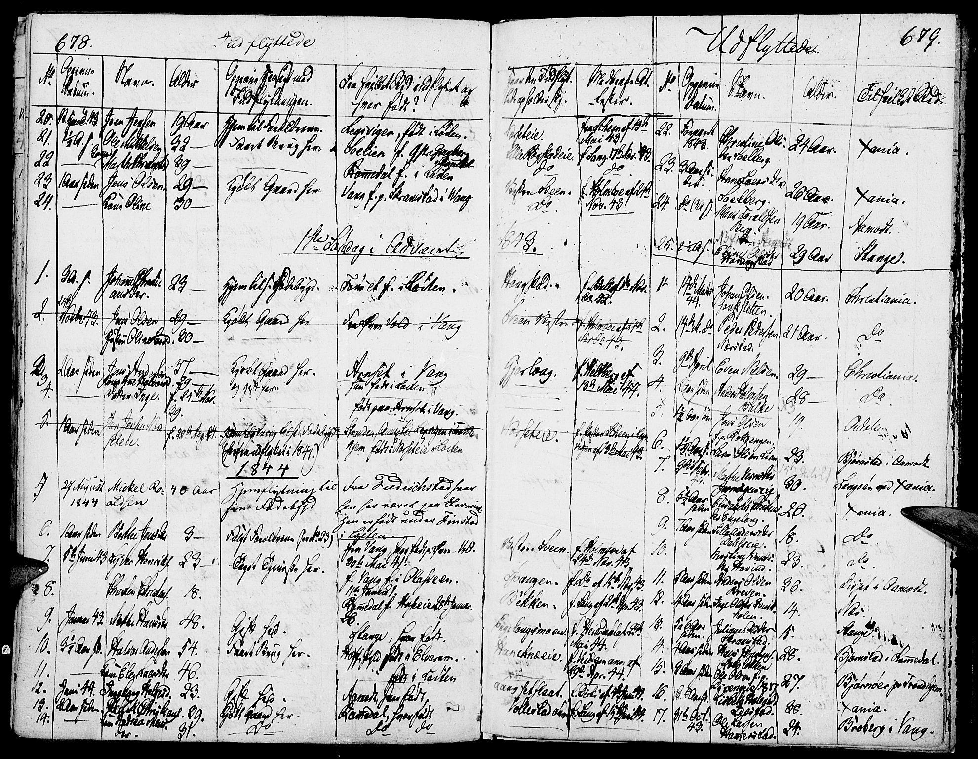 SAH, Løten prestekontor, K/Ka/L0006: Parish register (official) no. 6, 1832-1849, p. 678-679