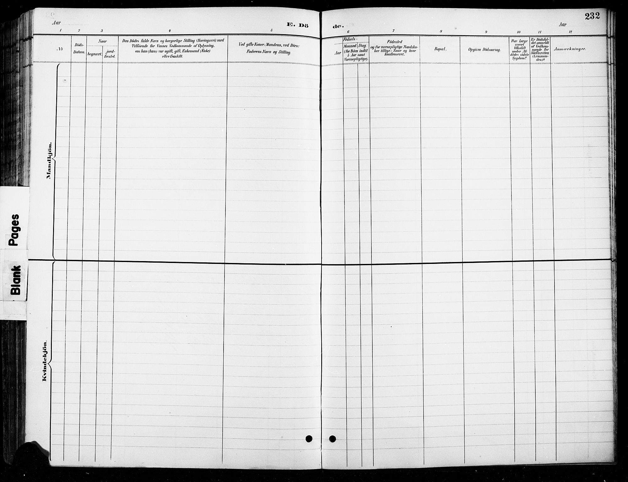 SAH, Lesja prestekontor, Parish register (copy) no. 7, 1895-1919, p. 232