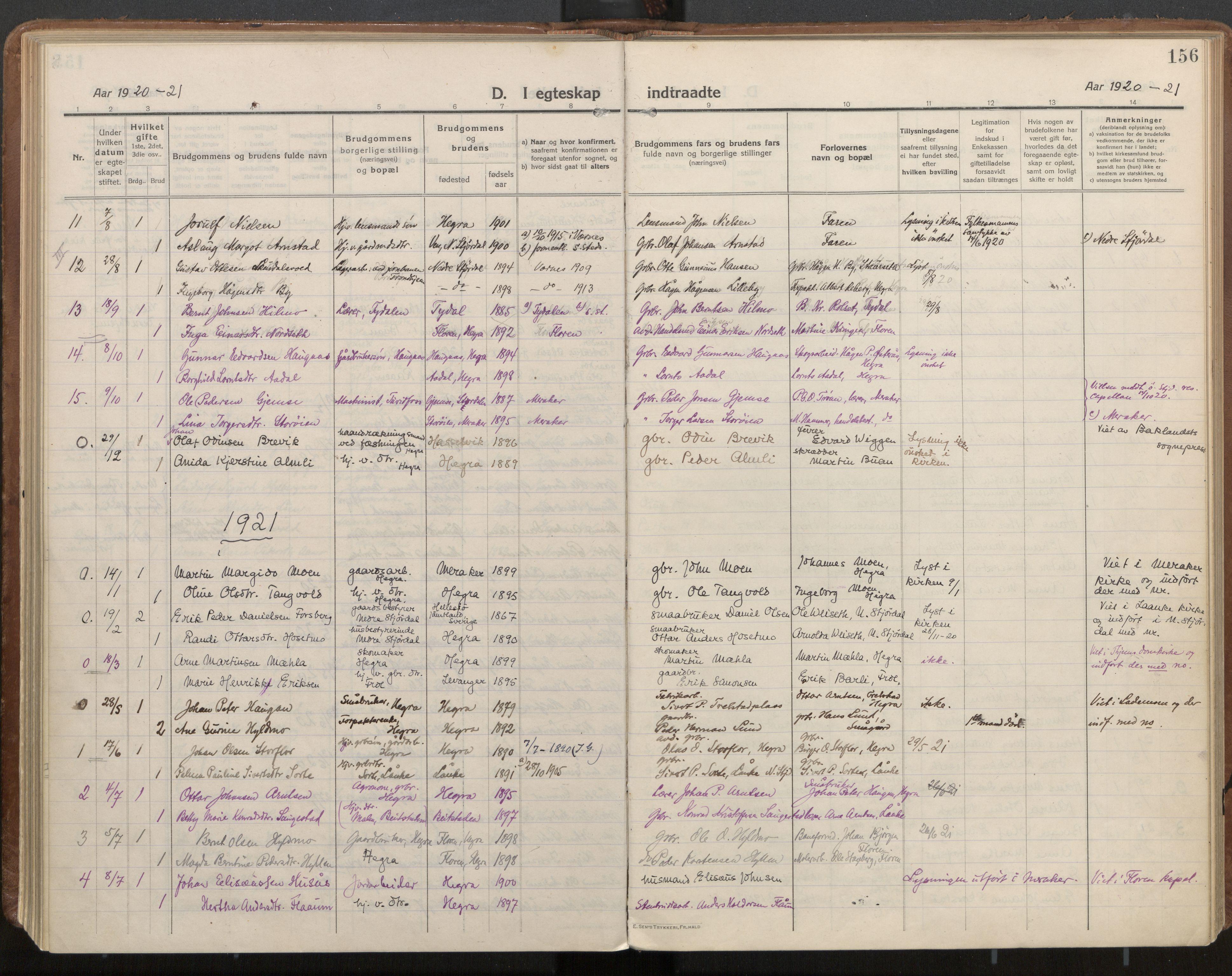 SAT, Ministerialprotokoller, klokkerbøker og fødselsregistre - Nord-Trøndelag, 703/L0037: Parish register (official) no. 703A10, 1915-1932, p. 156