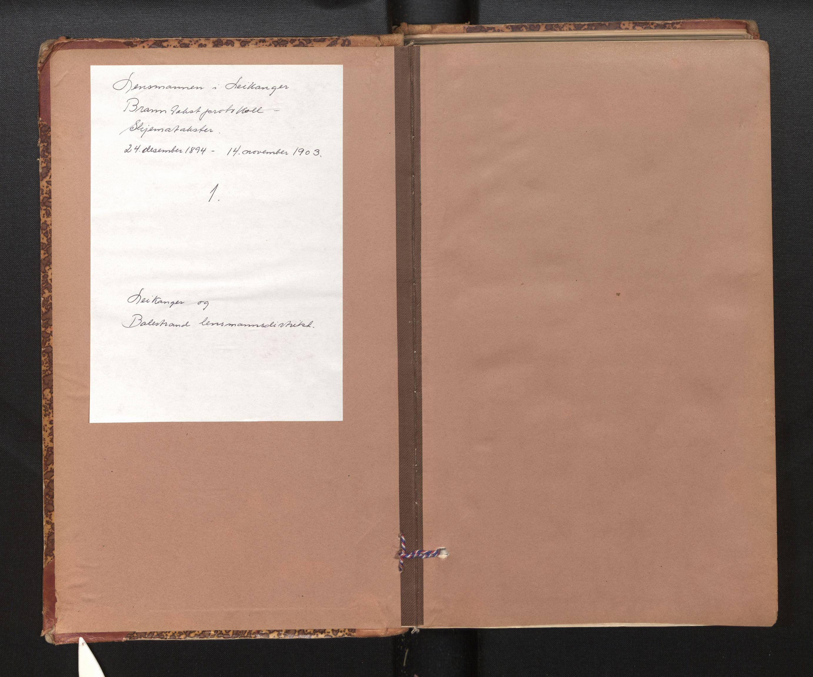 SAB, Lensmannen i Leikanger, 0012/L0004: Branntakstprotokoll, skjematakst, 1894-1903