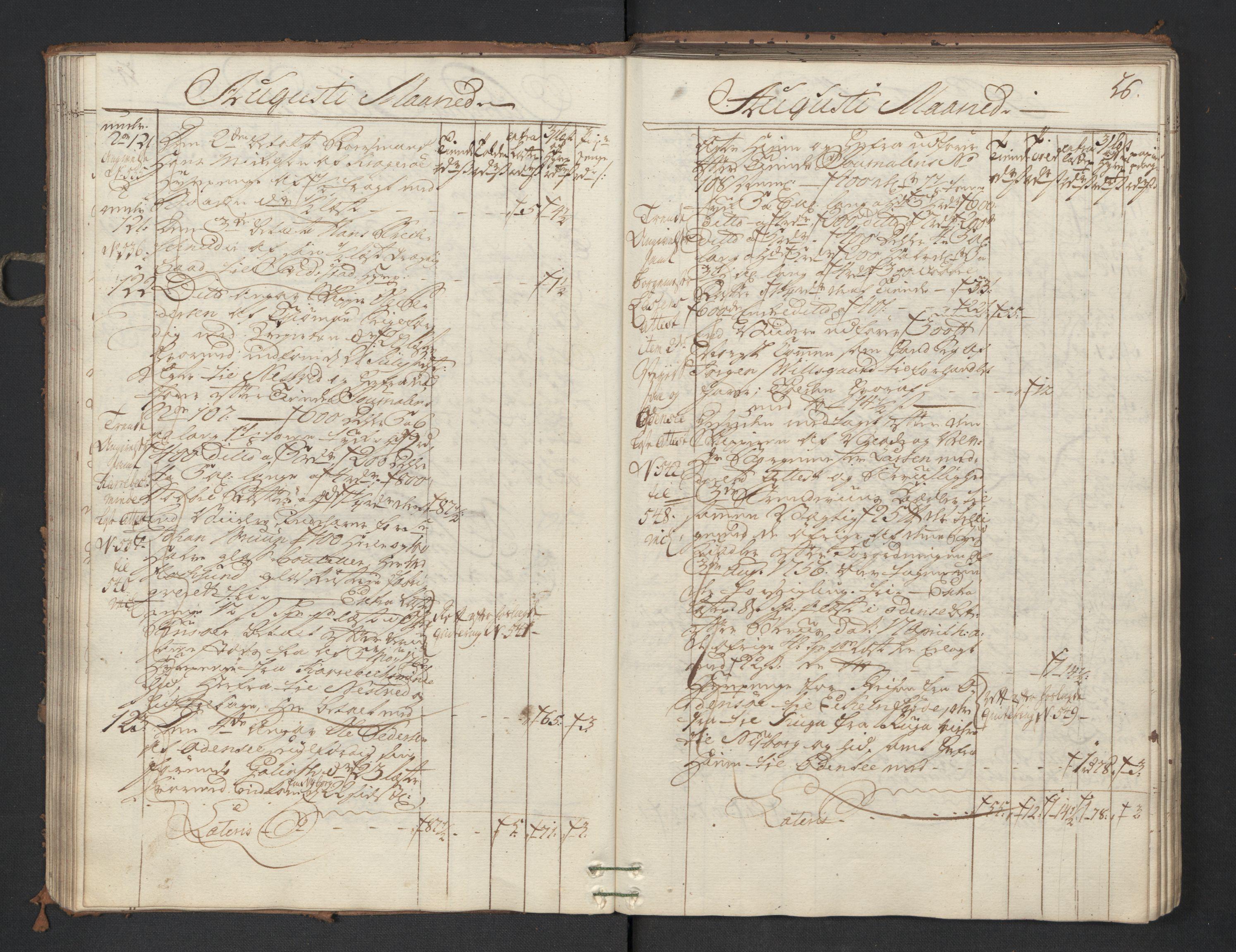 RA, Generaltollkammeret, tollregnskaper, R01/L0047: Tollregnskaper Fredrikshald, 1762, p. 55b-56a