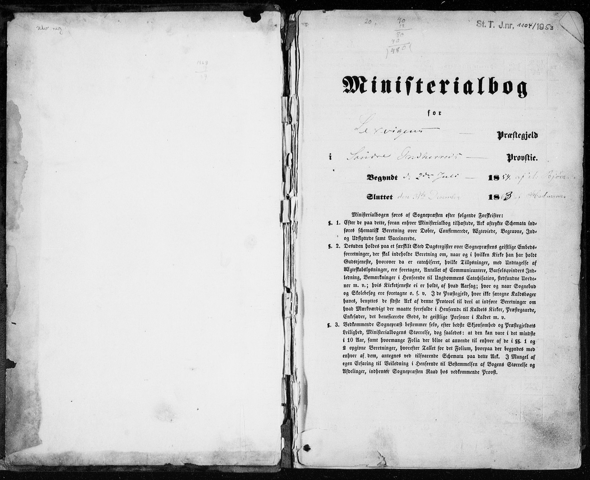 SAT, Ministerialprotokoller, klokkerbøker og fødselsregistre - Nord-Trøndelag, 701/L0008: Parish register (official) no. 701A08 /1, 1854-1863