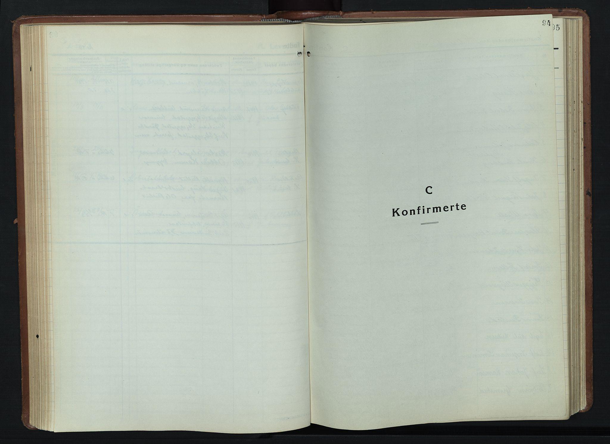 SAH, Lillehammer prestekontor, H/Ha/Hab/L0003: Parish register (copy) no. 3, 1927-1943, p. 94