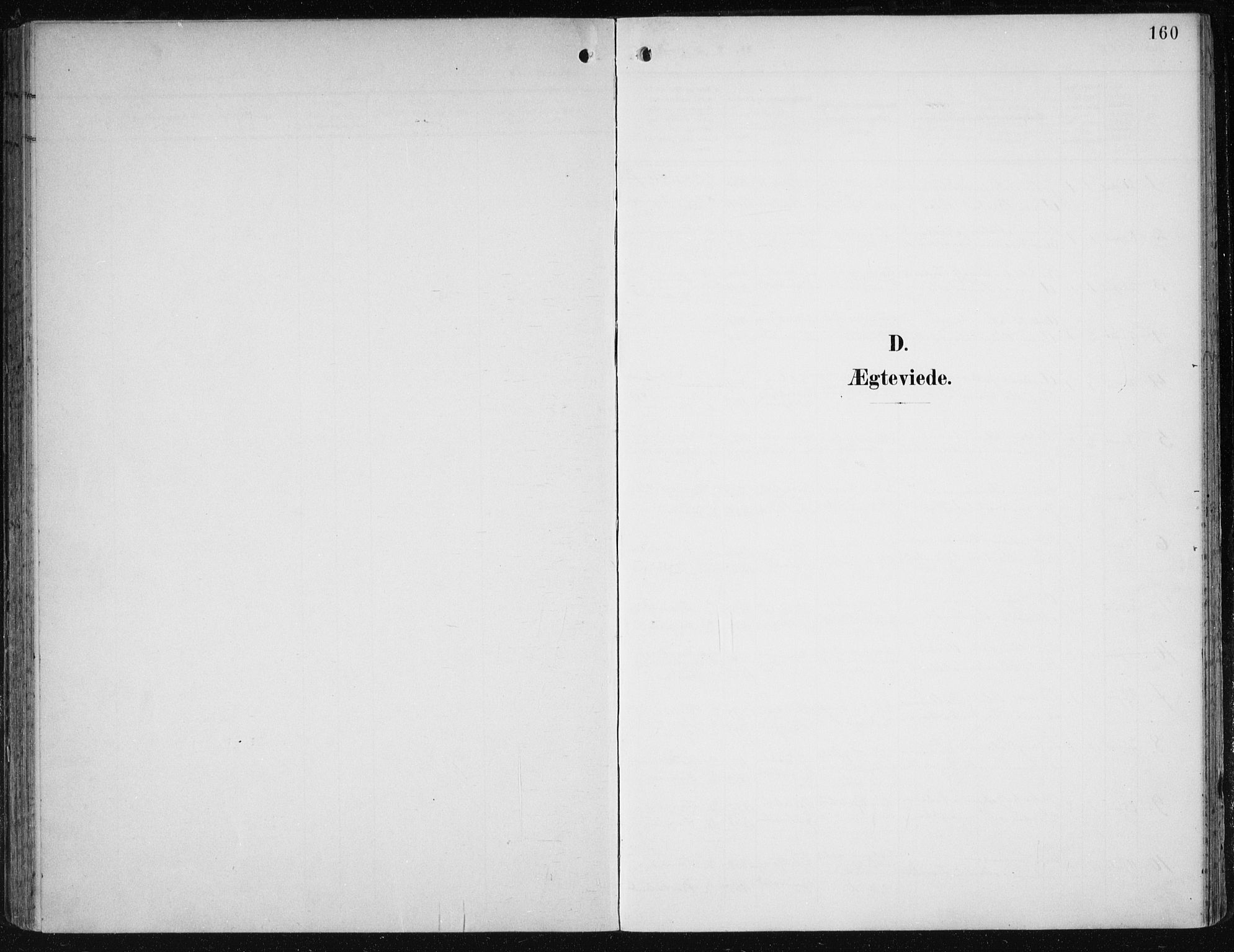 SAB, Birkeland Sokneprestembete, H/Haa: Parish register (official) no. A 3, 1900-1912, p. 160